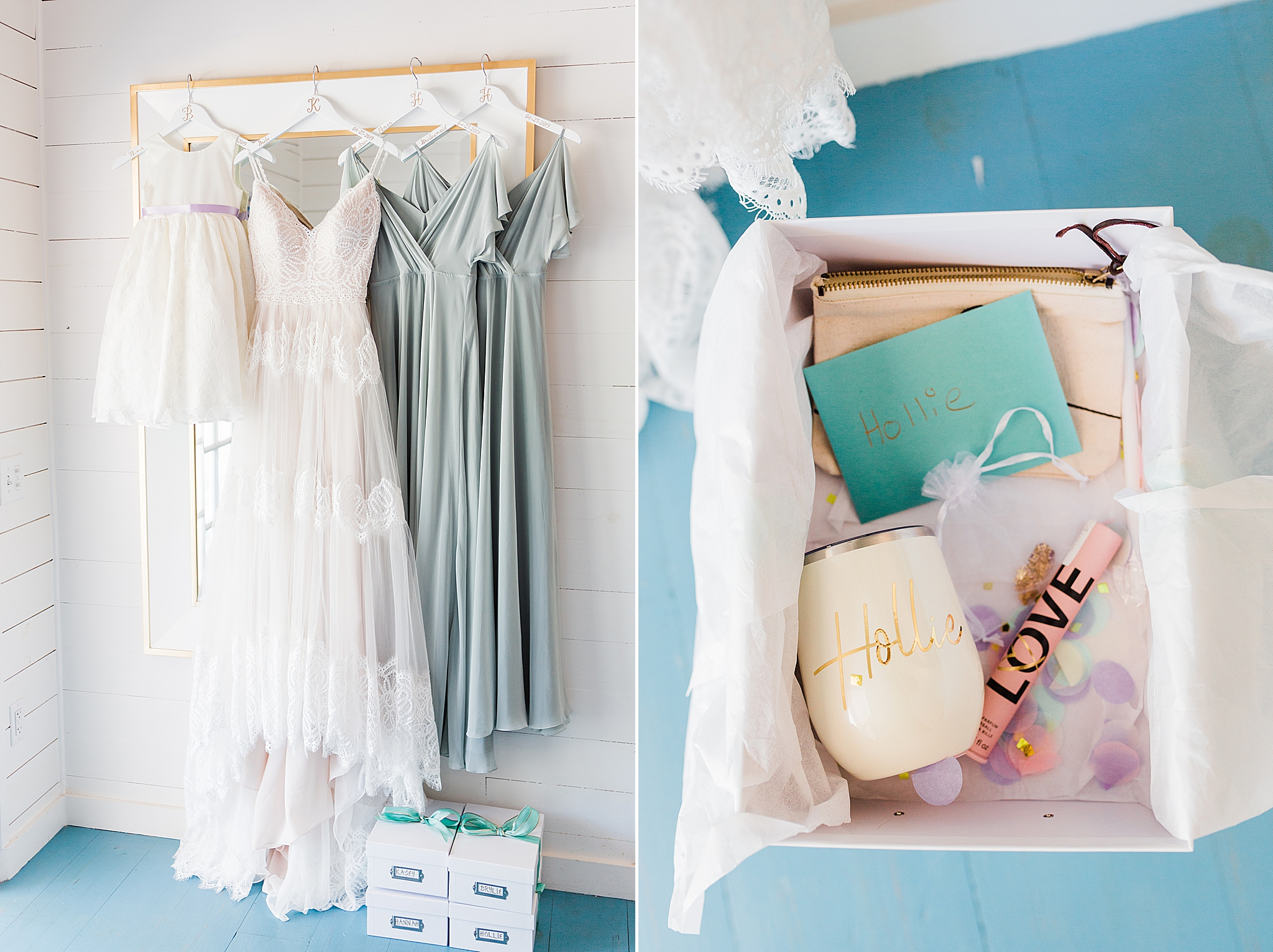 bridal details for Little Point Clear wedding