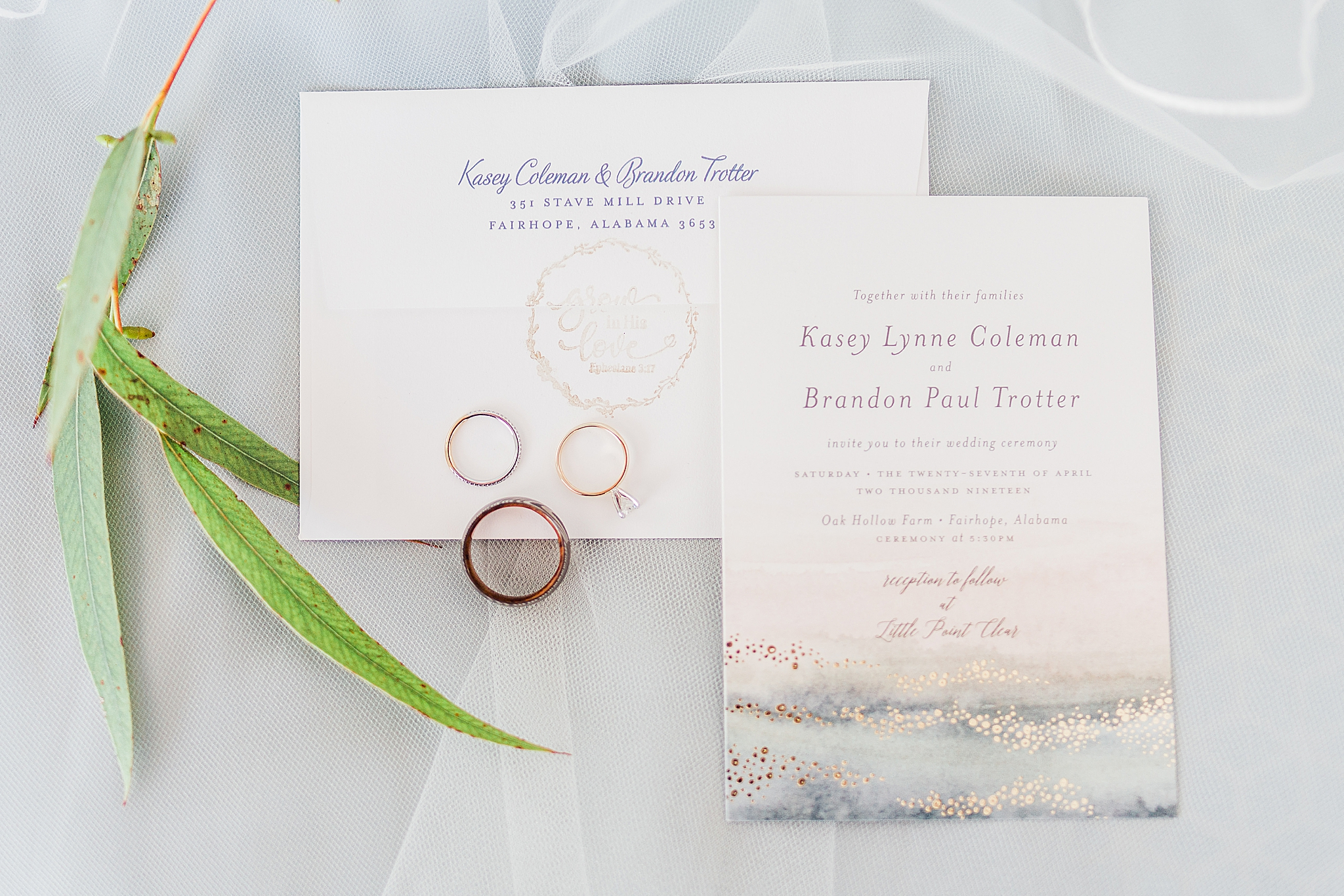 invitation suite for summer wedding