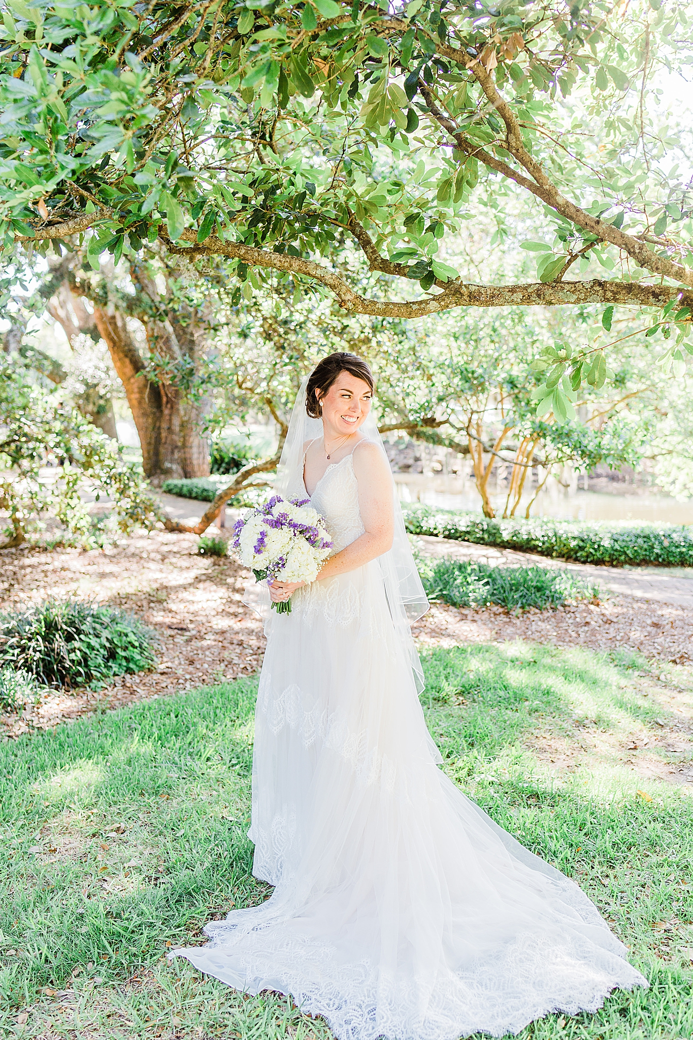 Fairhope AL bridal portraits at Little Point Clear