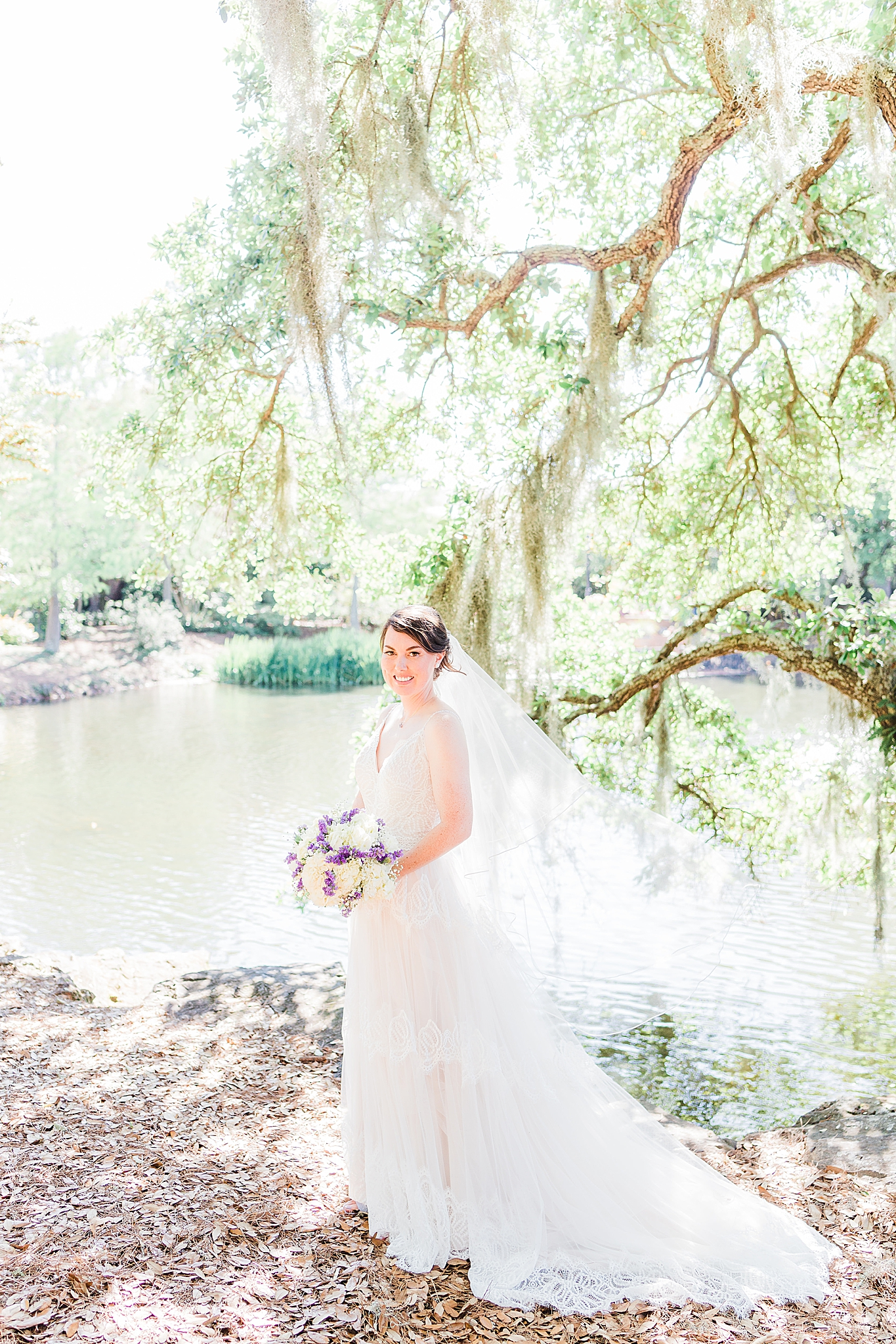 bridal portraits in Alabama at Little Point Clear
