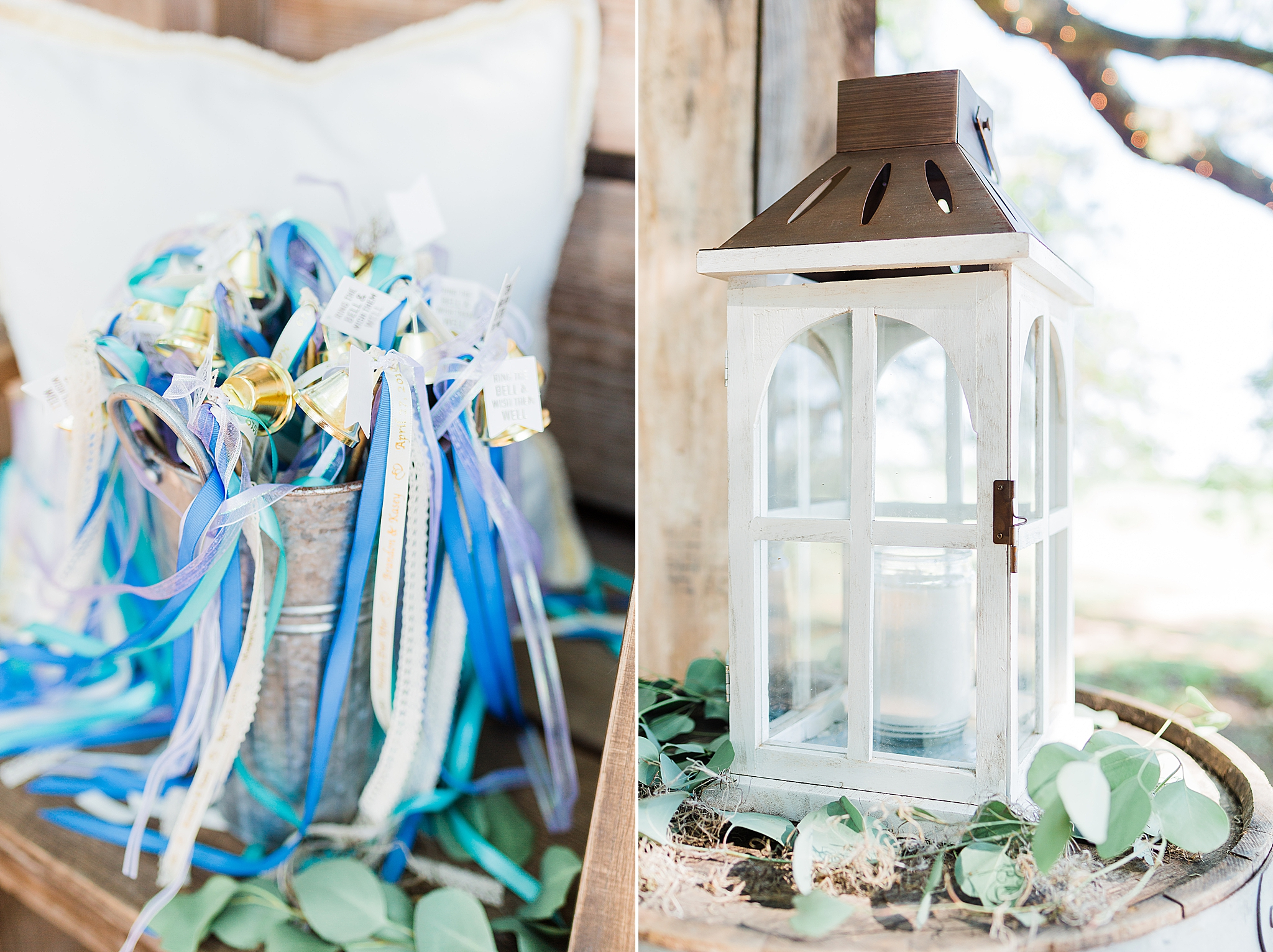 details for rustic outdoor wedding ceremony