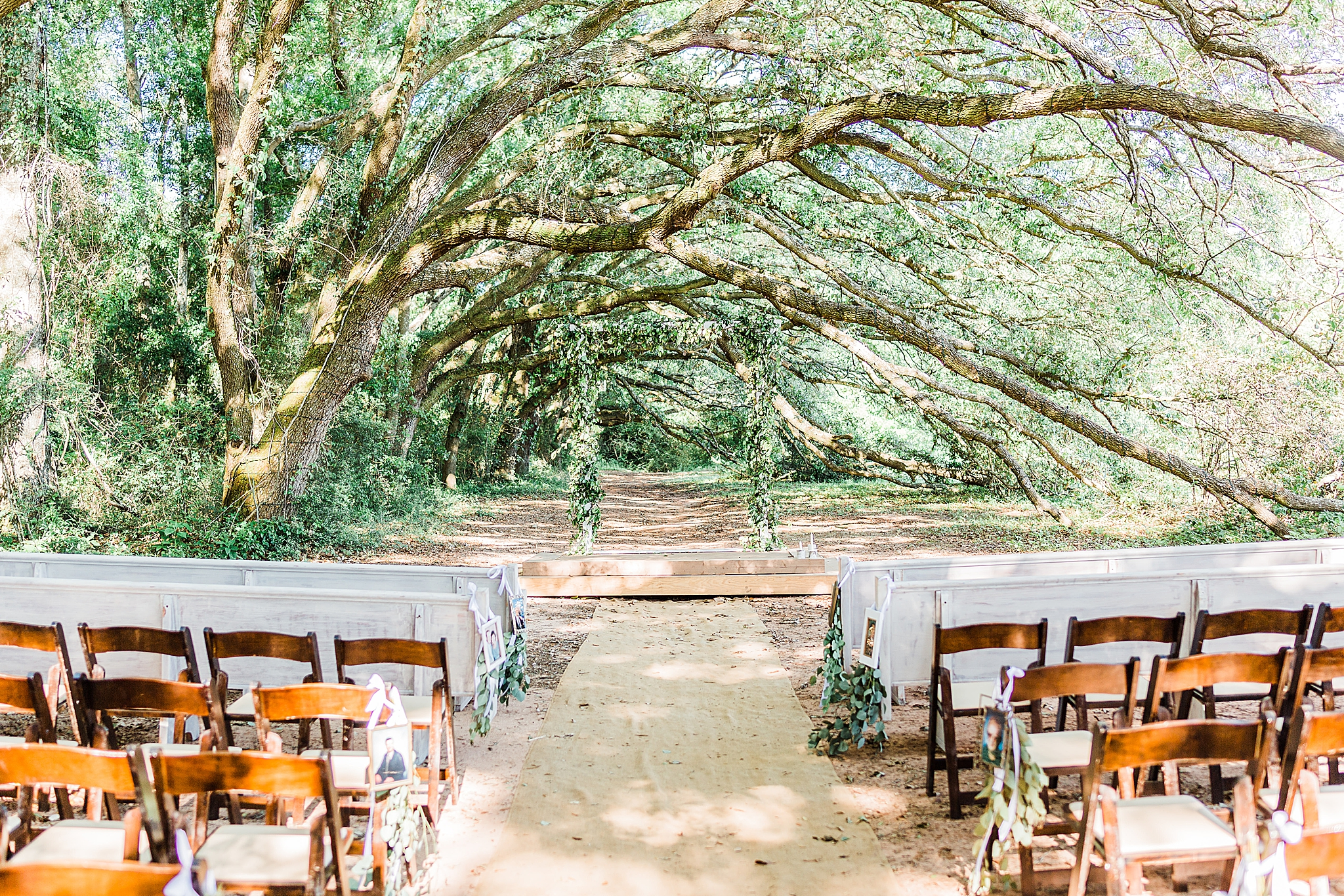 outdoor wedding ceremony in Fairhope AL
