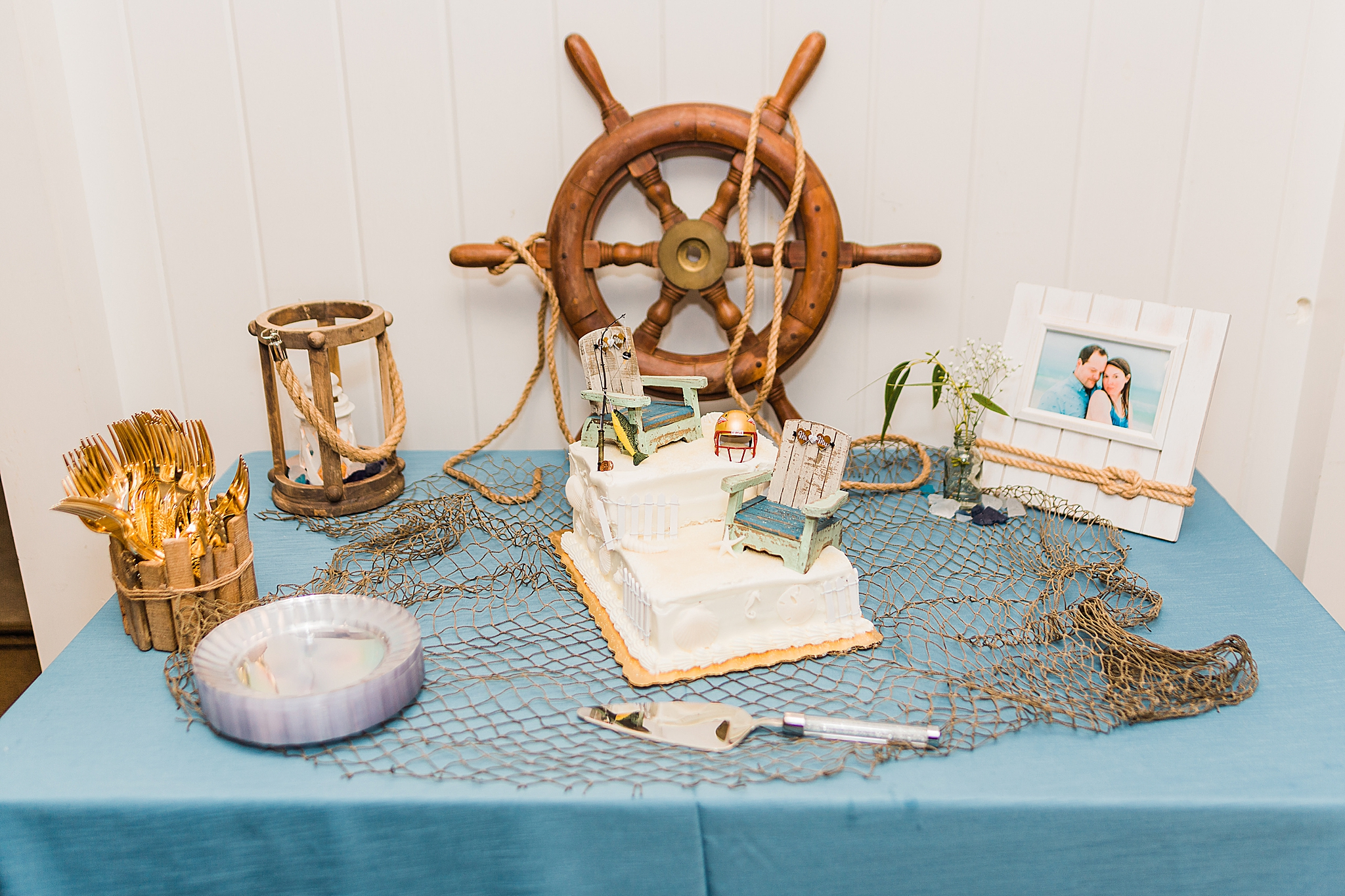 wedding reception with nautical inspiration