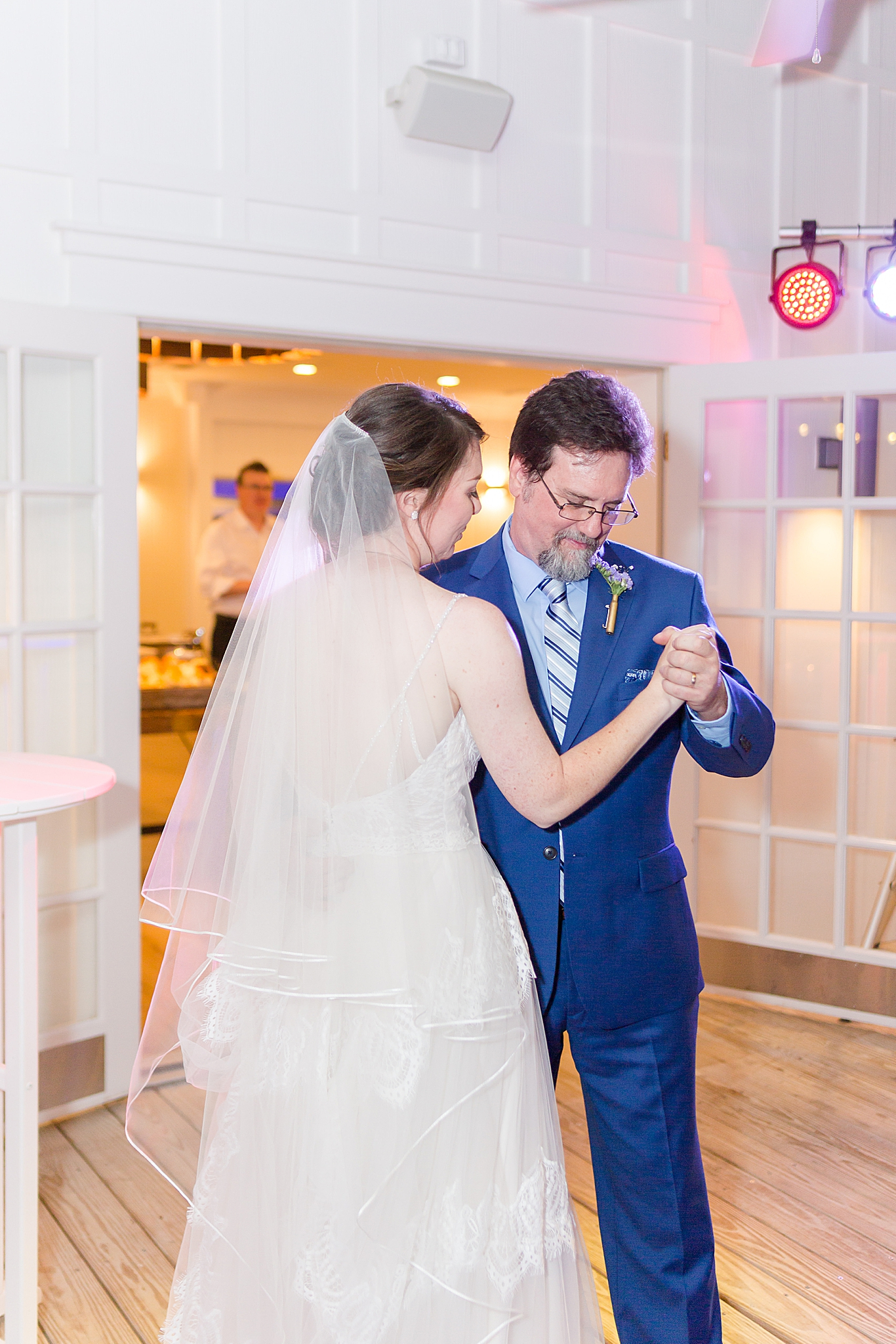 bride dances with dad during AL wedding reception
