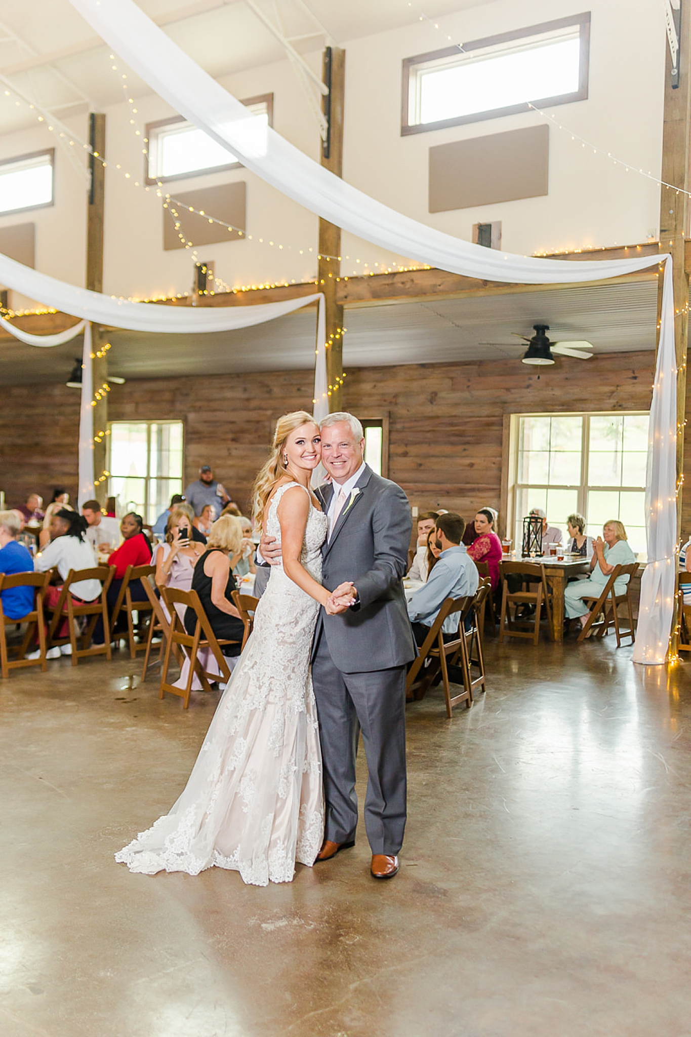bride dances with father at Spanish Fort AL wedding reception