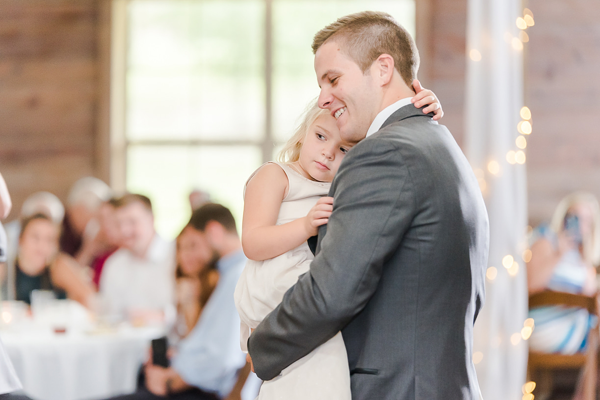 groom dances with daughter at Spanish Fort AL wedding reception