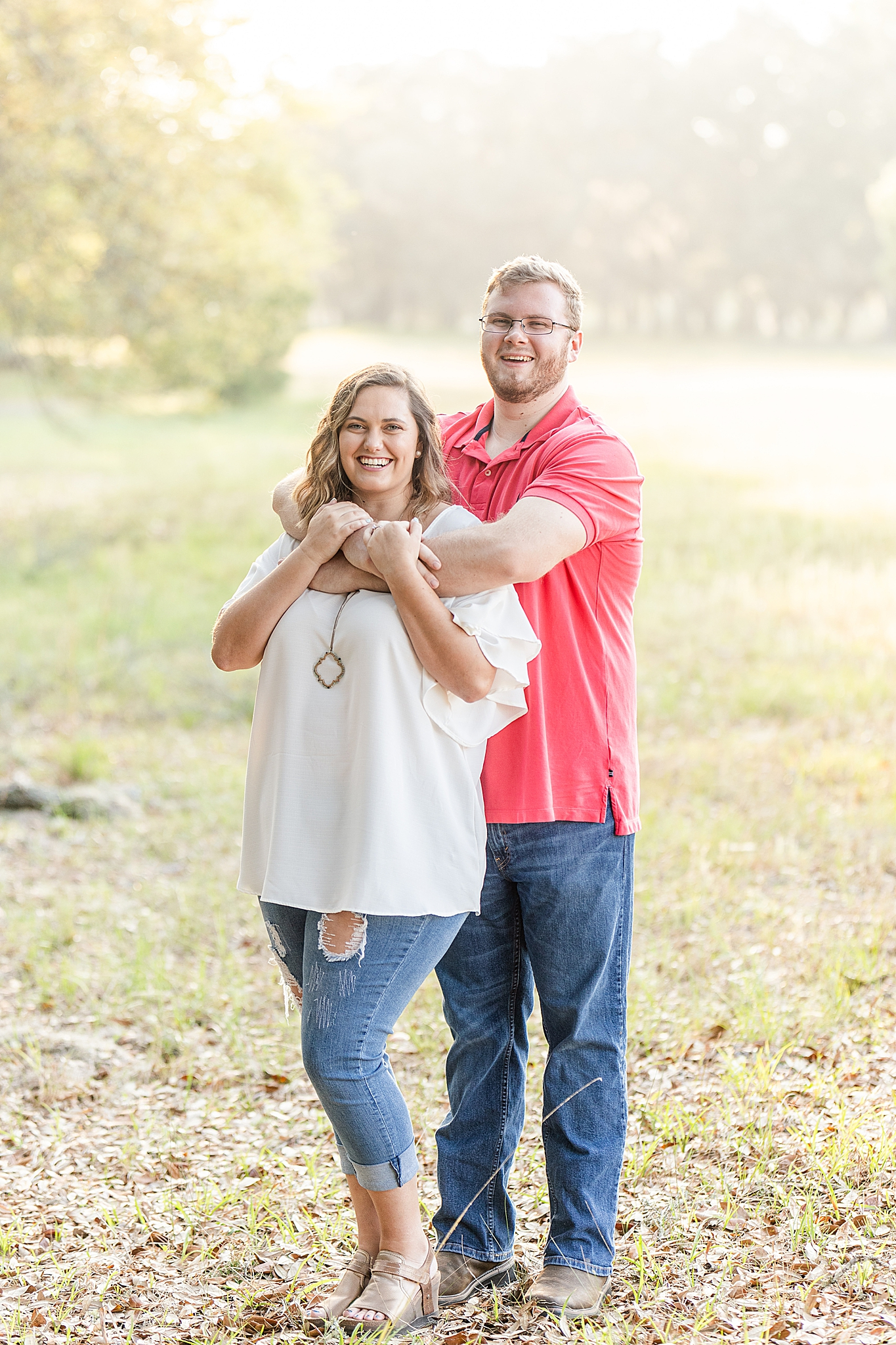 engagement portraits in the spring at Gulf State Park