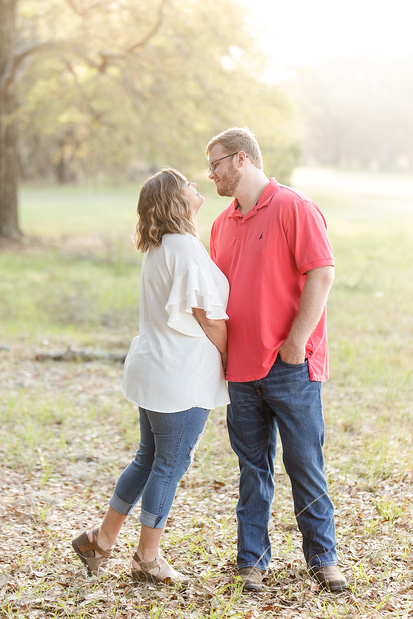 Alabama engagement session with couple at local park
