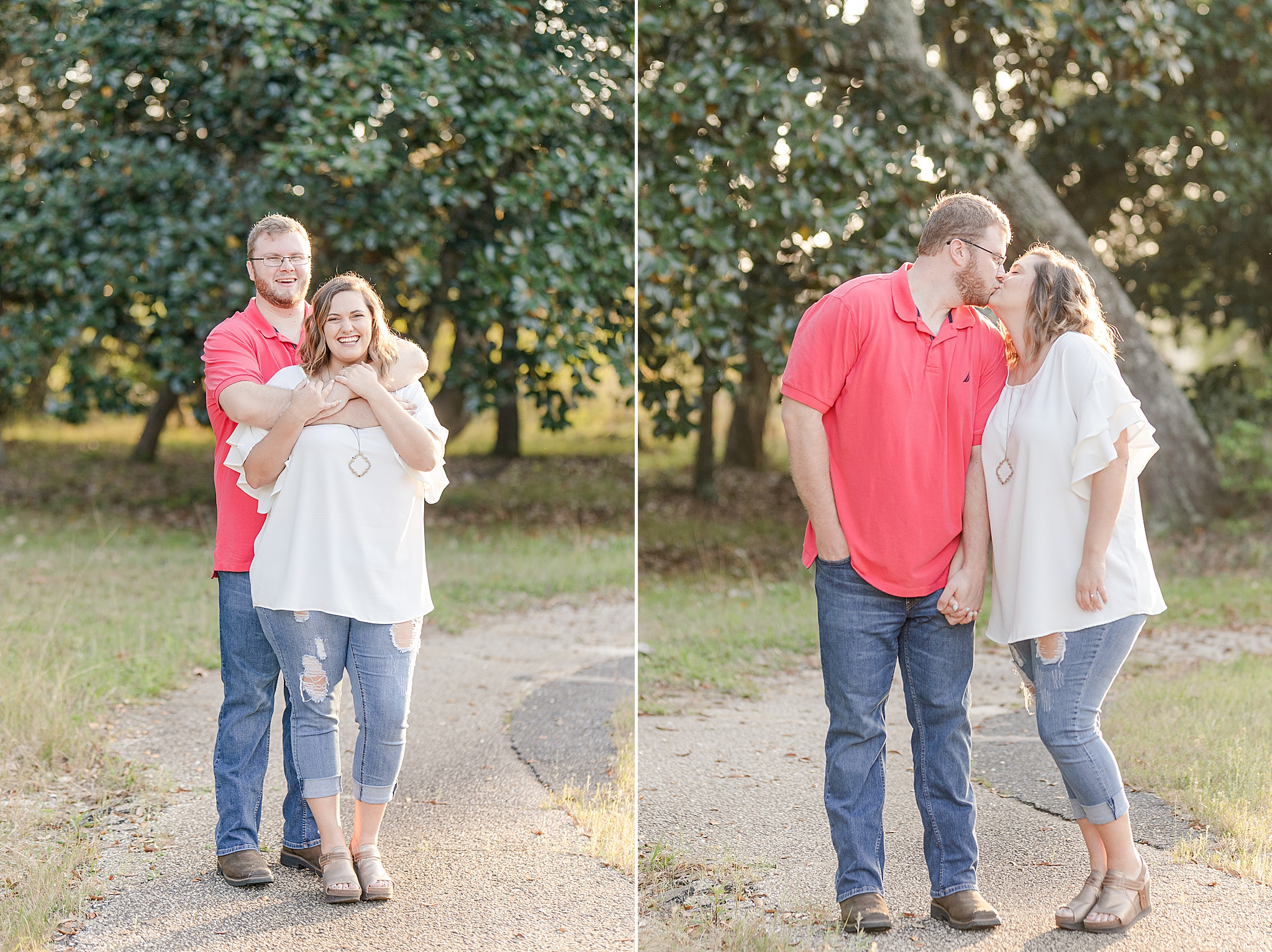spring engagement session at Gulf State Park