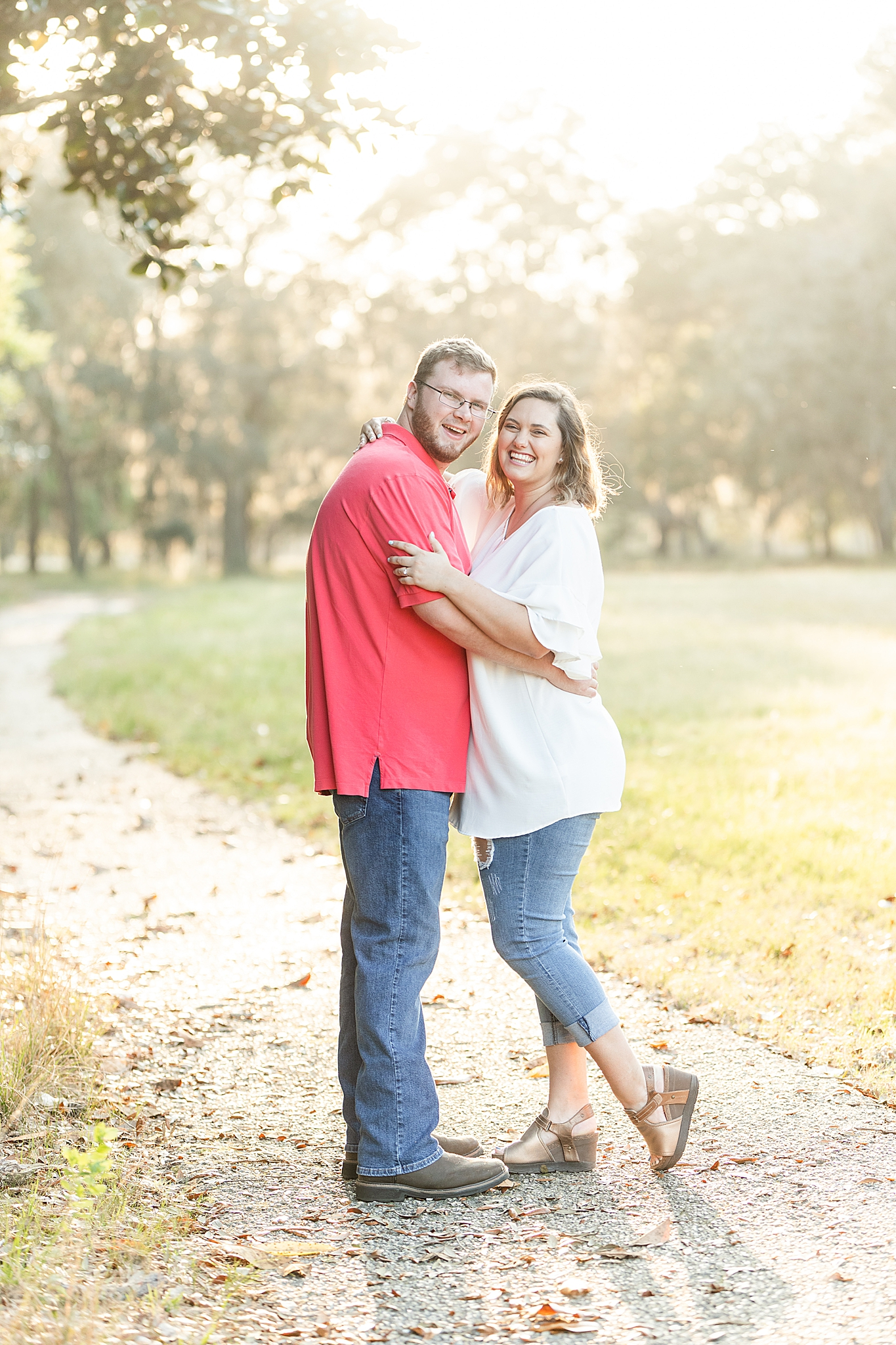 Gulf State Park engagement session with couple in casual attire
