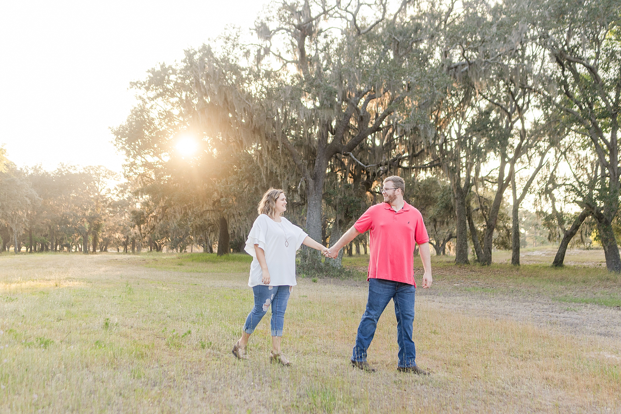 sunset engagement session in Alabama