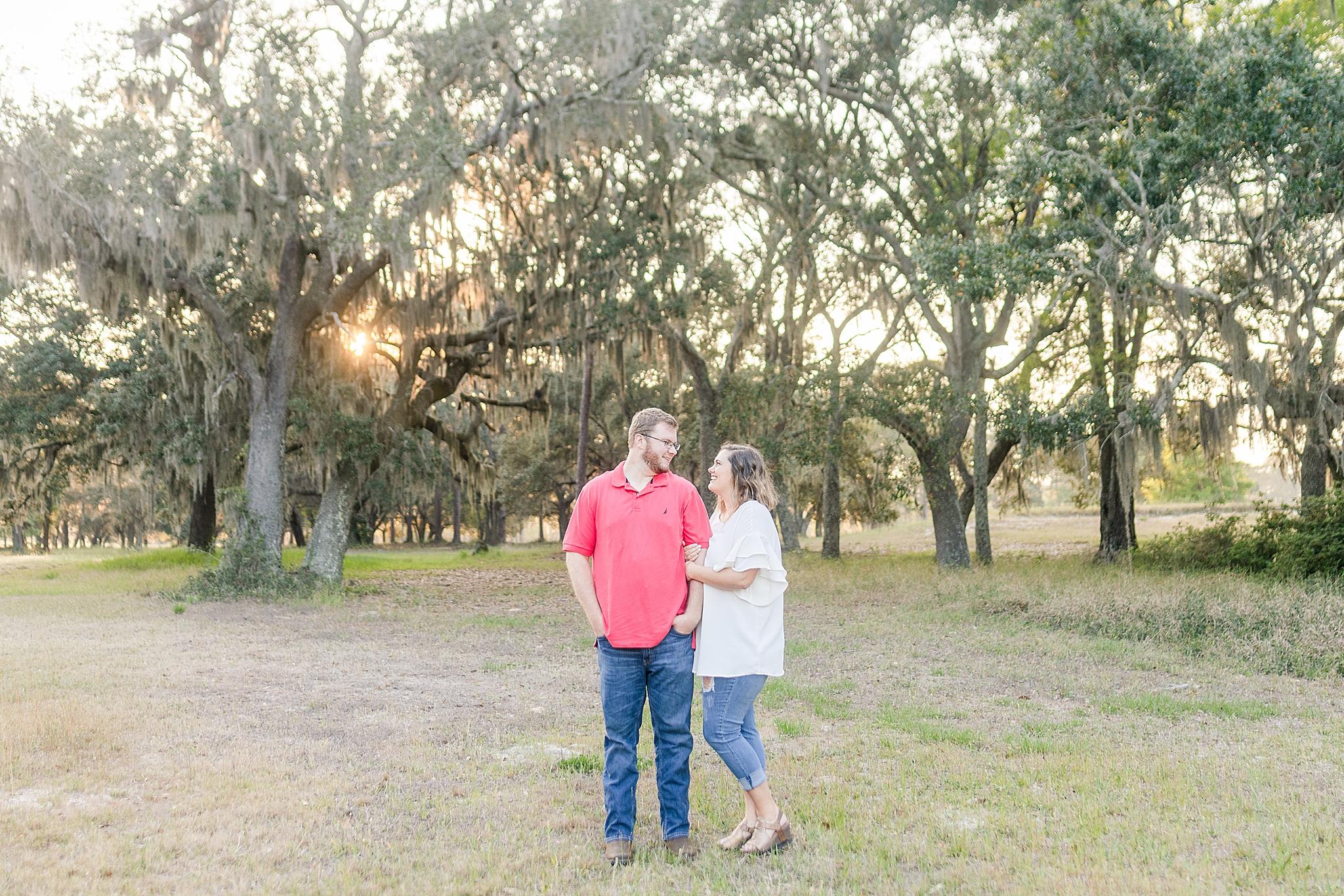 sunset engagement portraits in Alabama