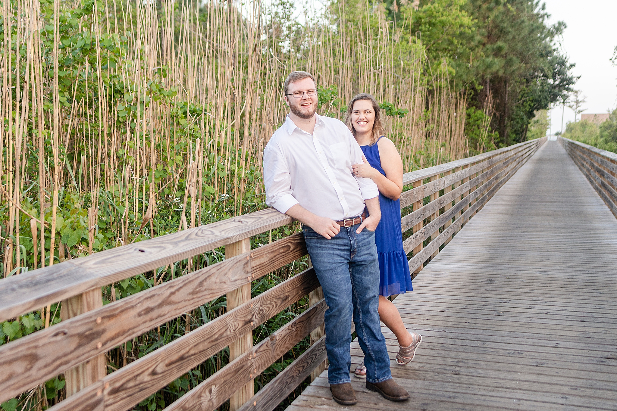 Alabama engagement portraits by the Gulf
