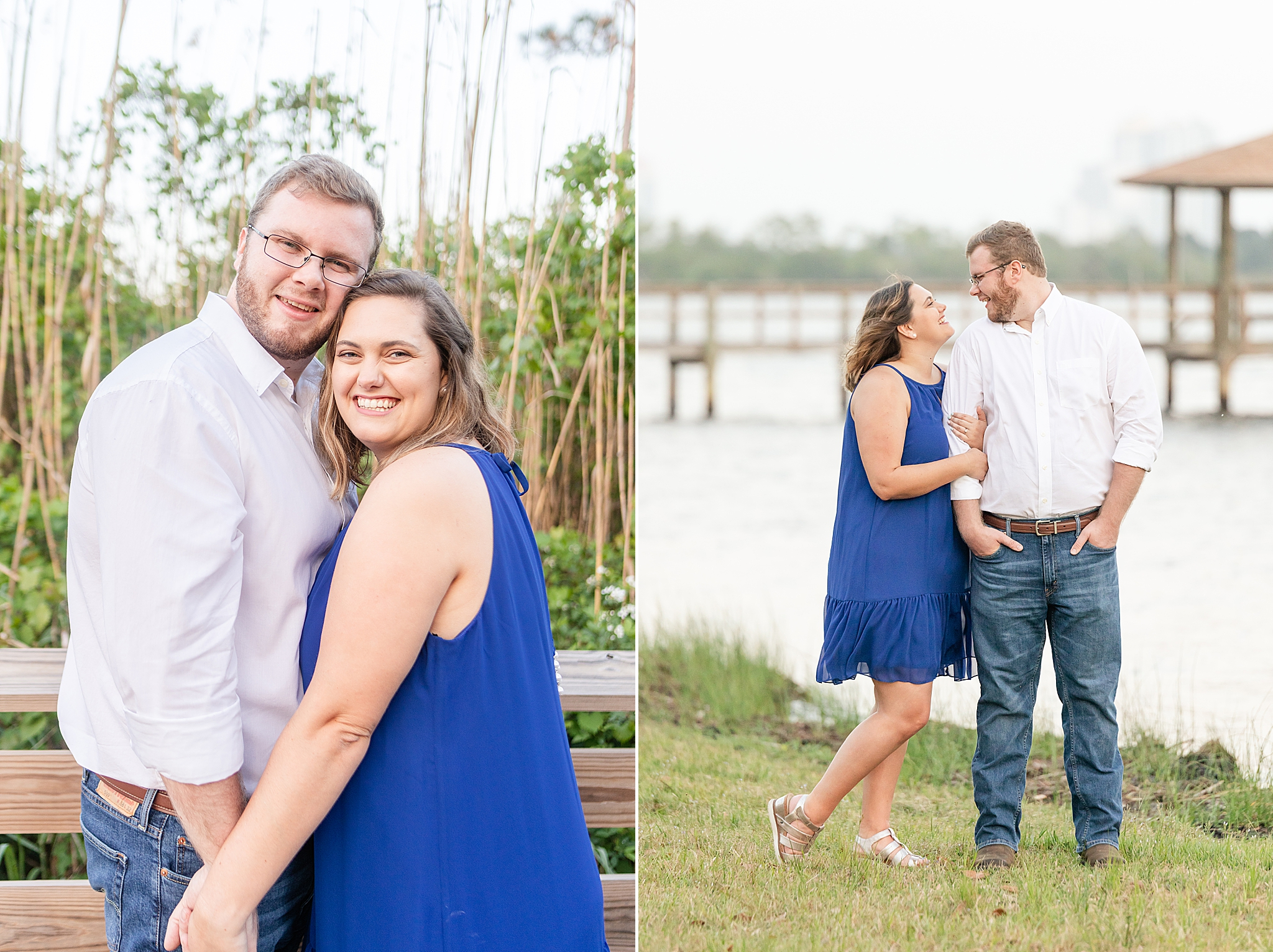 waterfront Gulf State Park engagement session