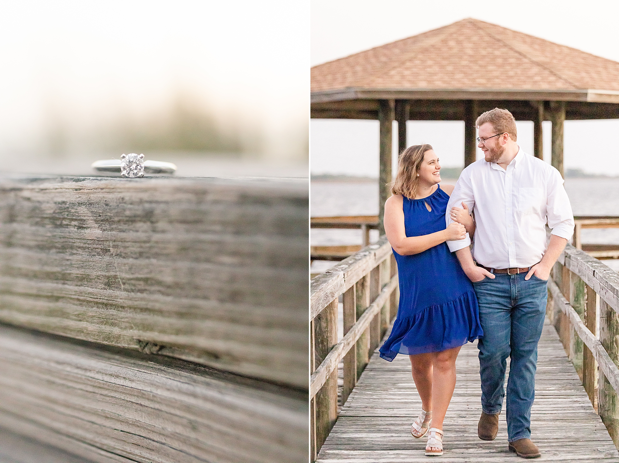 waterfront engagement session in Alabama with Goodie and Smith Weddings