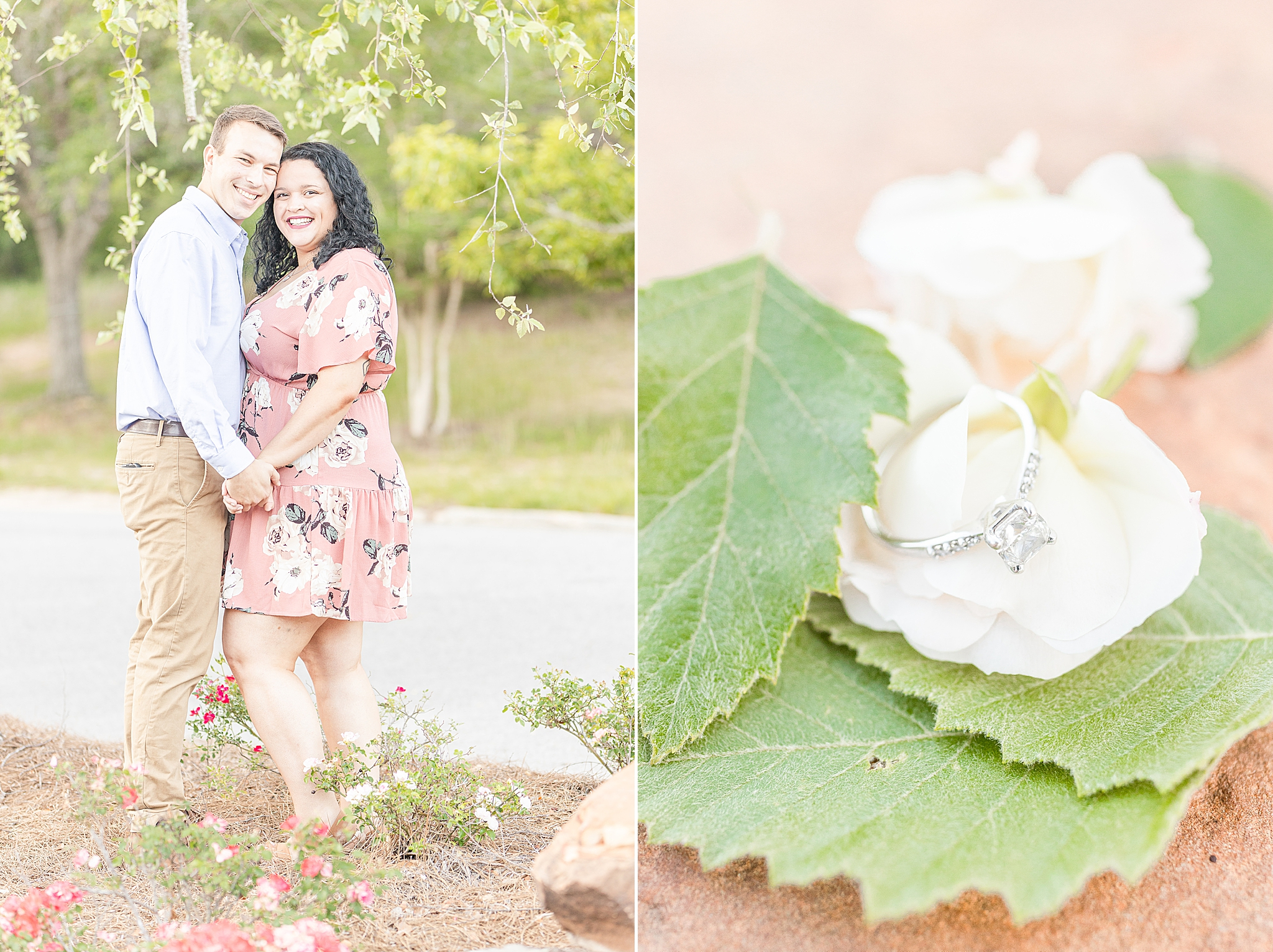 Alabama engagement portraits in downtown Fairhope