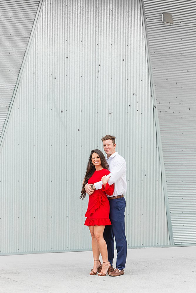 Bride and Groom at an engagement at the Wharf in Orange Beach, Alabama
