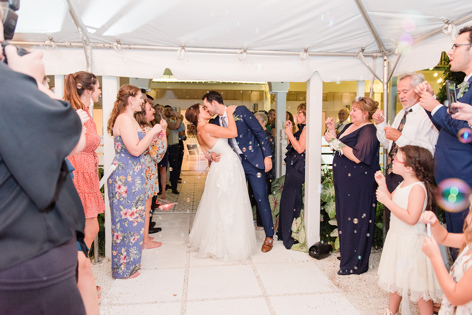 bubble exit from Fairhope AL destination wedding