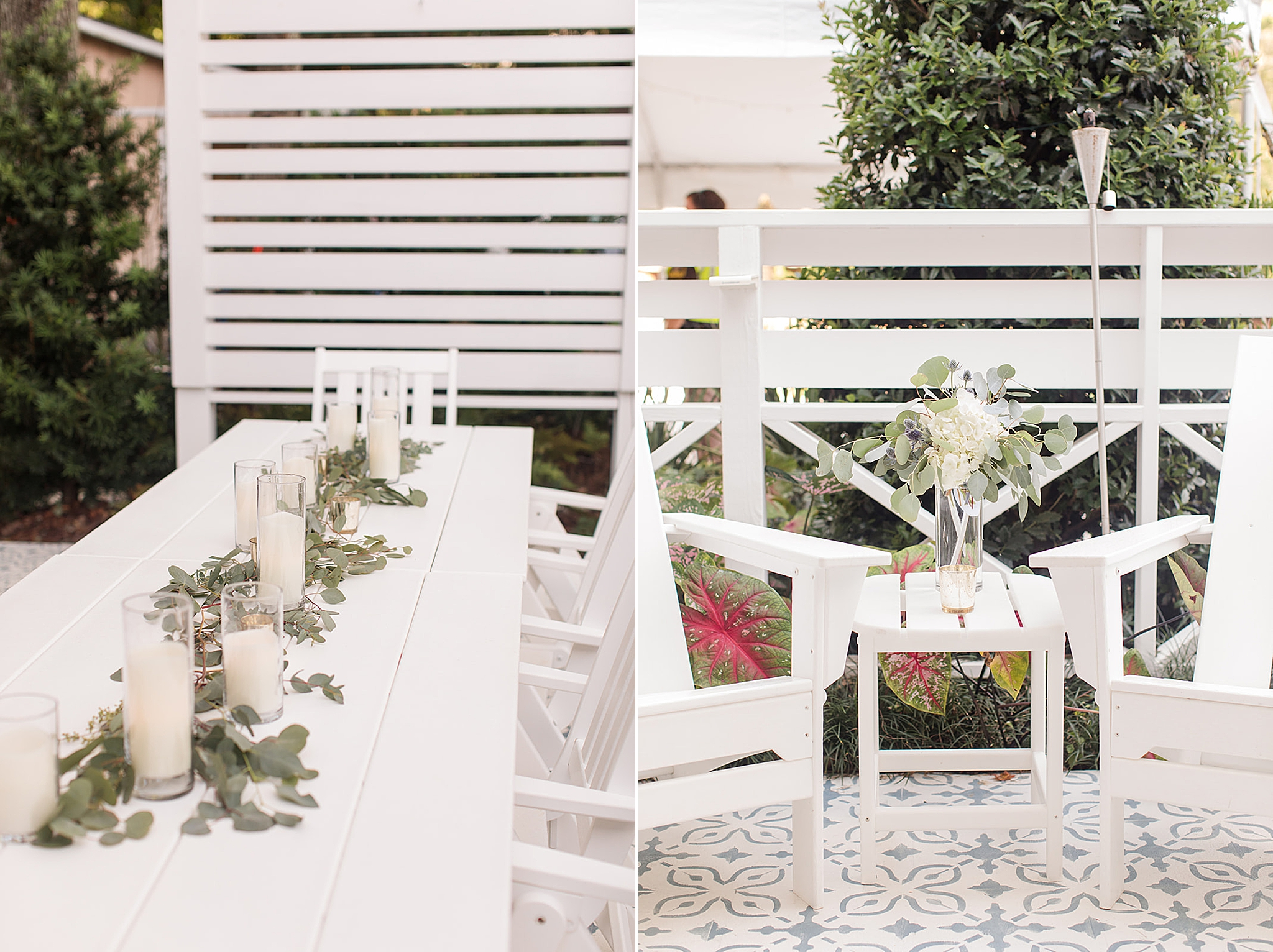 outdoor wedding reception at Little Point Clear in Fairhope AL