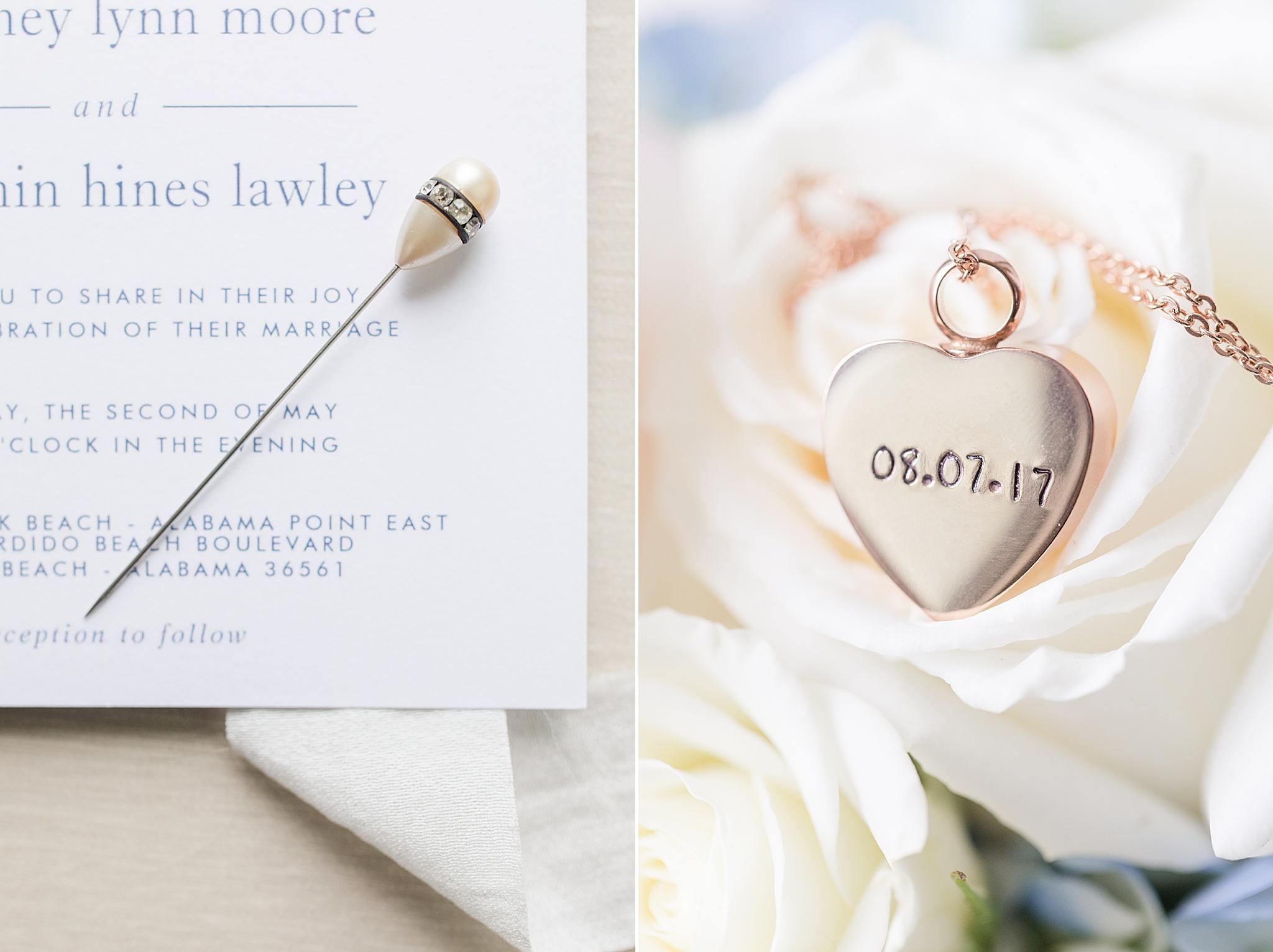 Alabama wedding details for beach bride