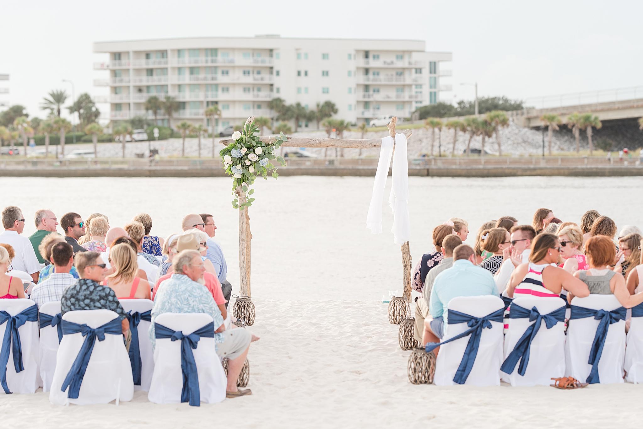 Gulf Shores Wedding Chapel wedding ceremony on the beach