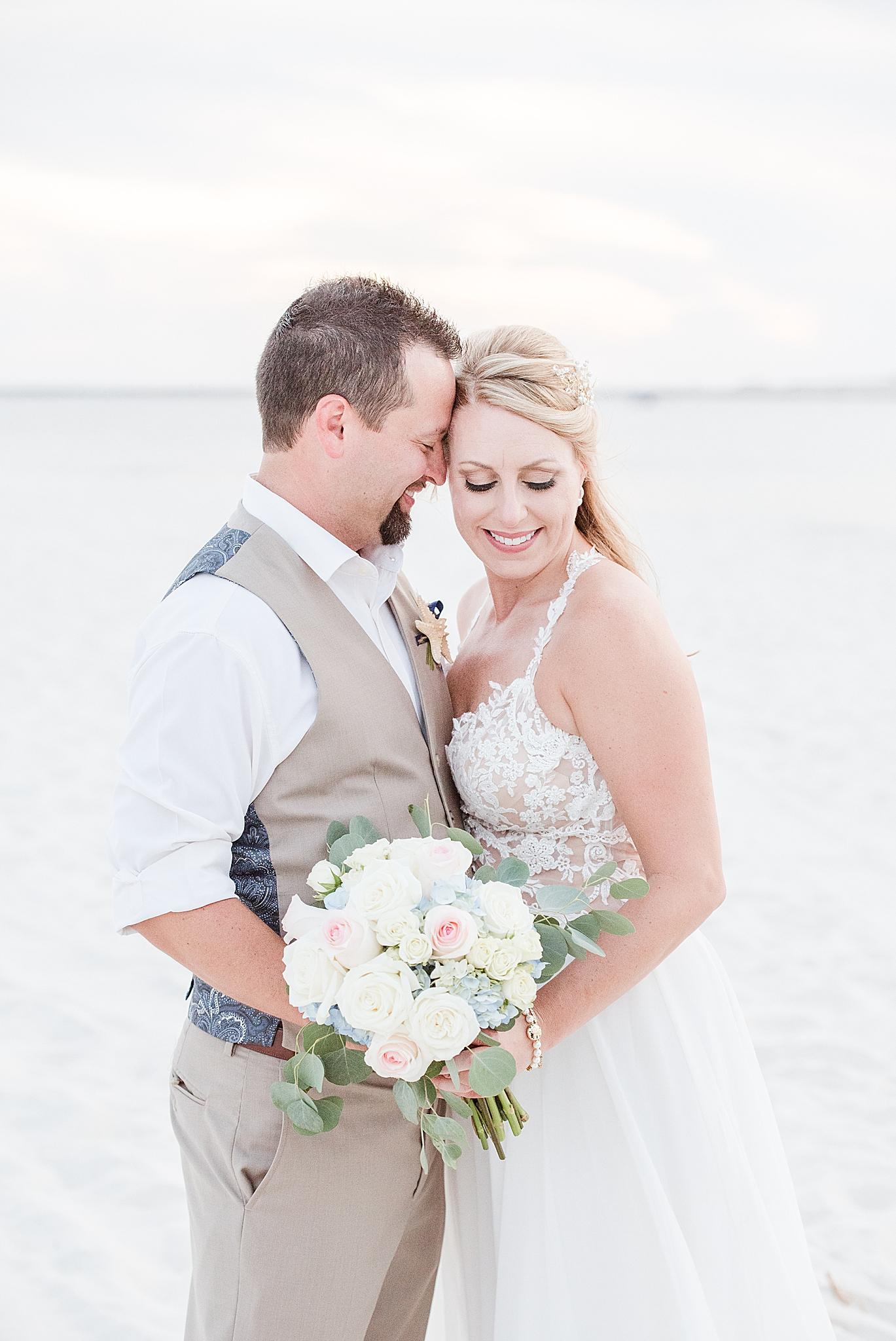 Gulf Shores Wedding Chapel wedding portraits on beach