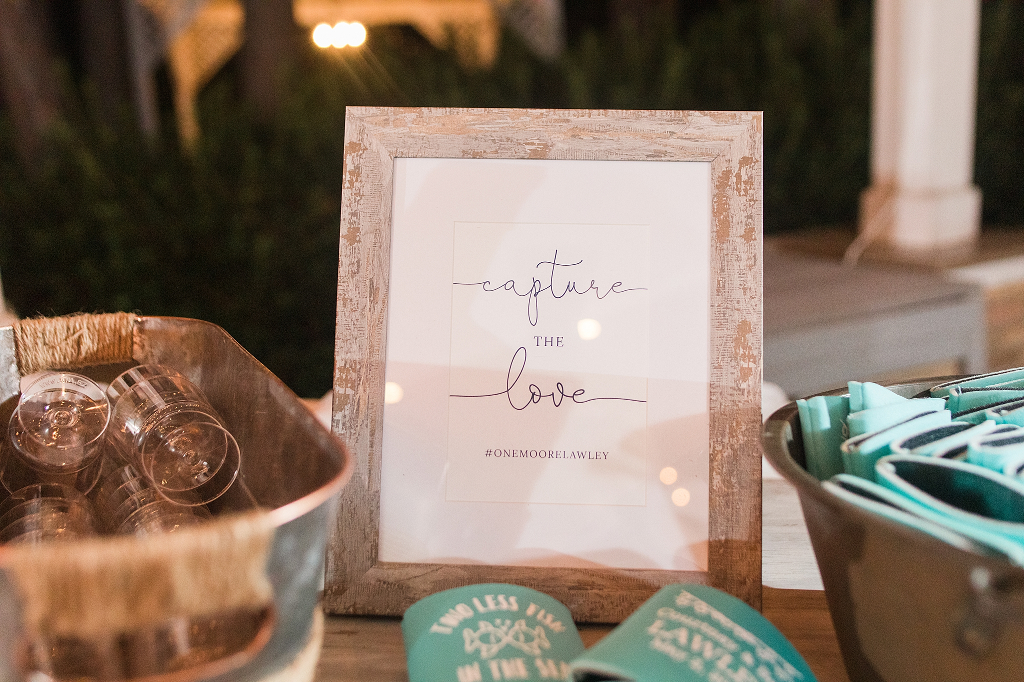 details for beach inspired wedding reception at Gulf Shores Wedding Chapel