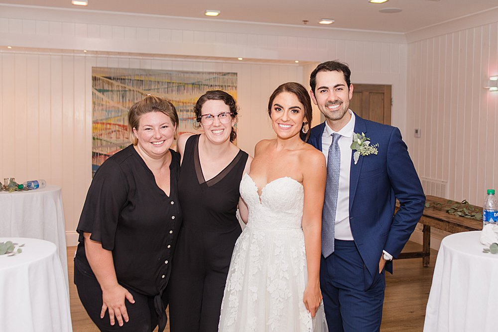 Toni and Jessica with their Bride and Groom at Little Point Clear