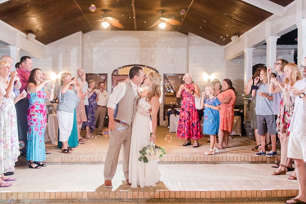bubble exit from Gulf Shores Wedding Chapel