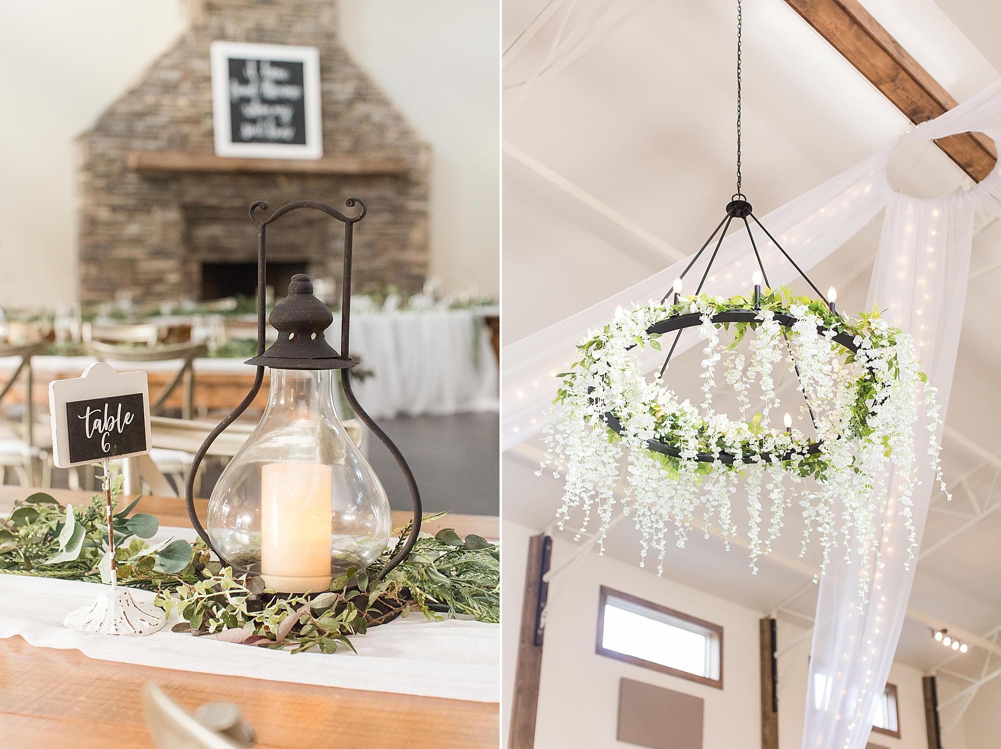 details for Izenstone wedding reception