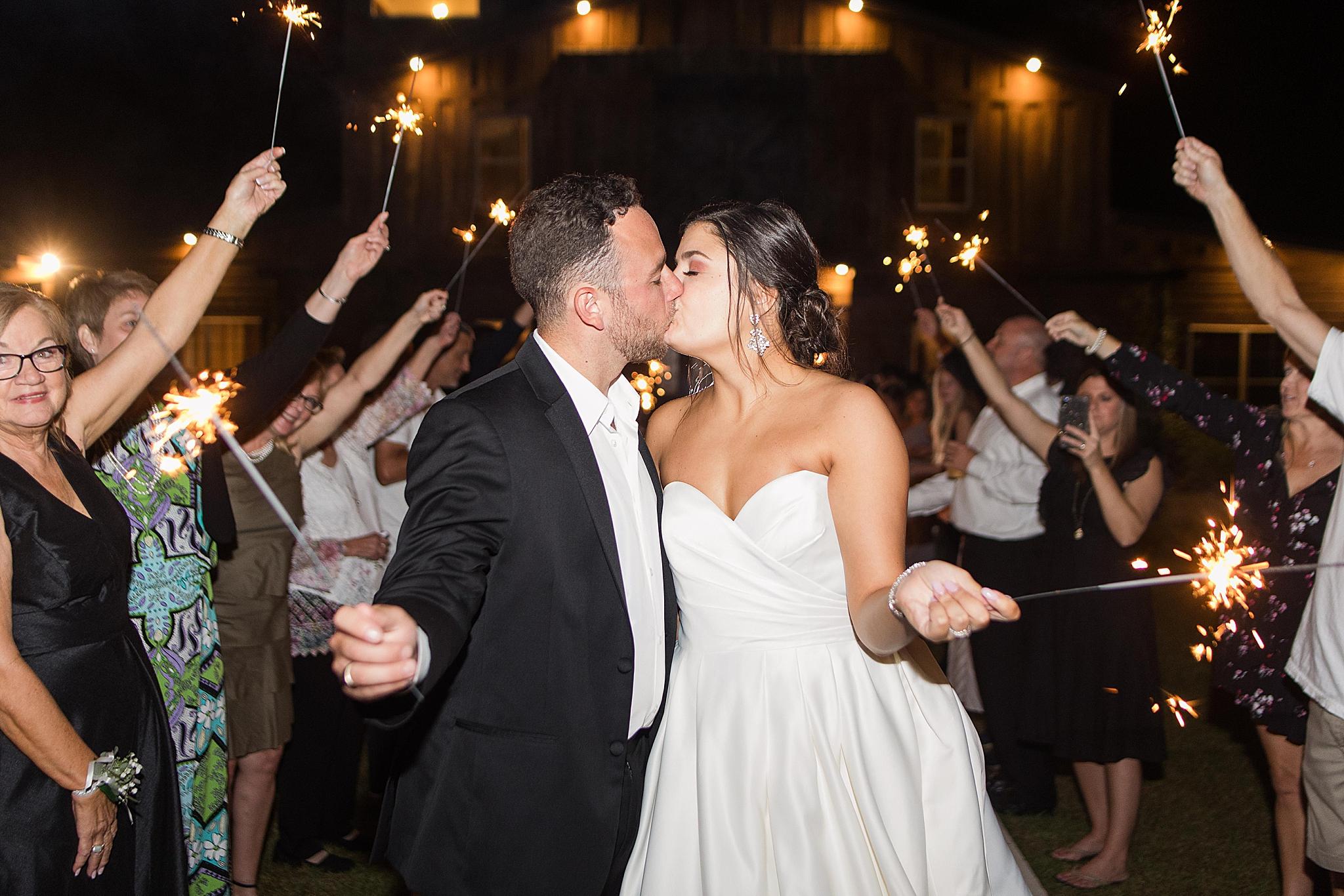 sparkler exit after Izenstone wedding