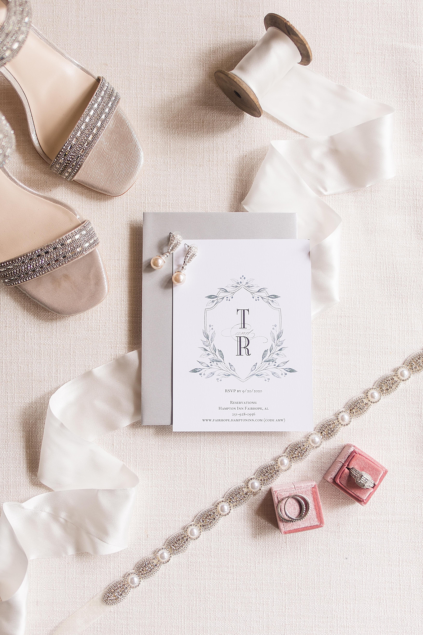 classic invitation suite for bride and groom