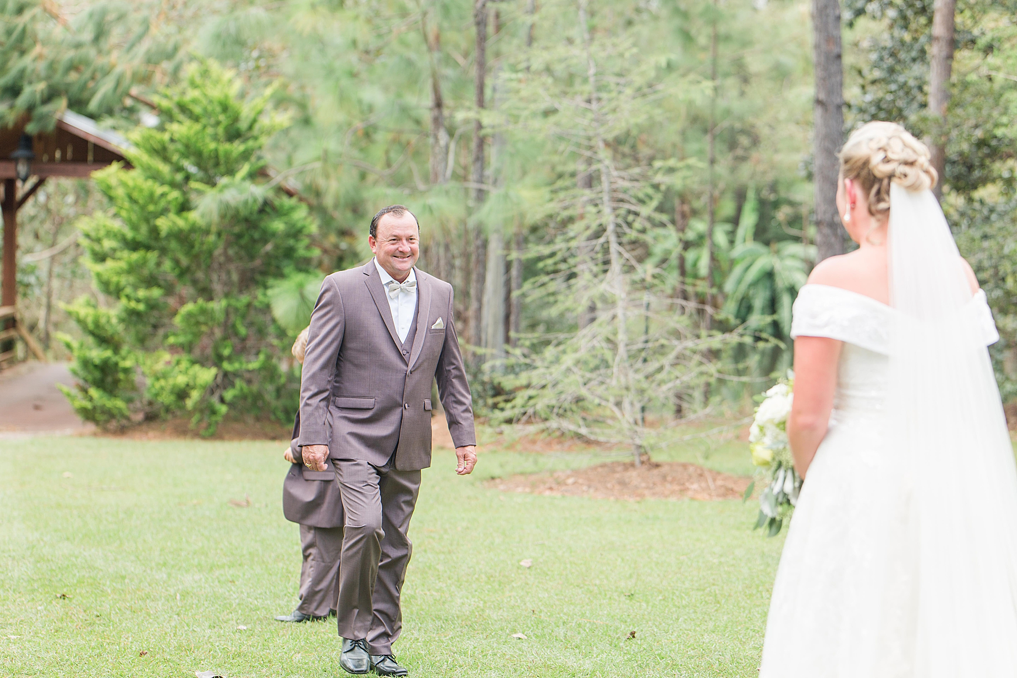 groom reacts to seeing bride for the first time