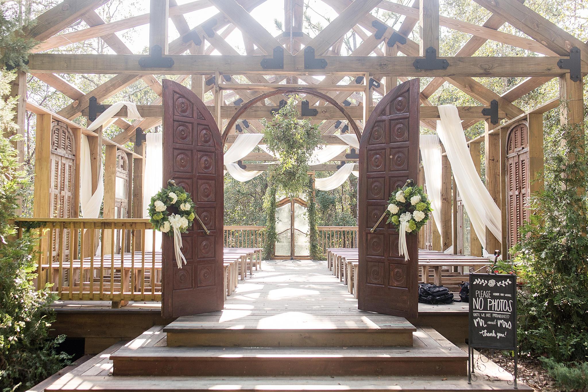 open air chapel at Bella Sera Gardens