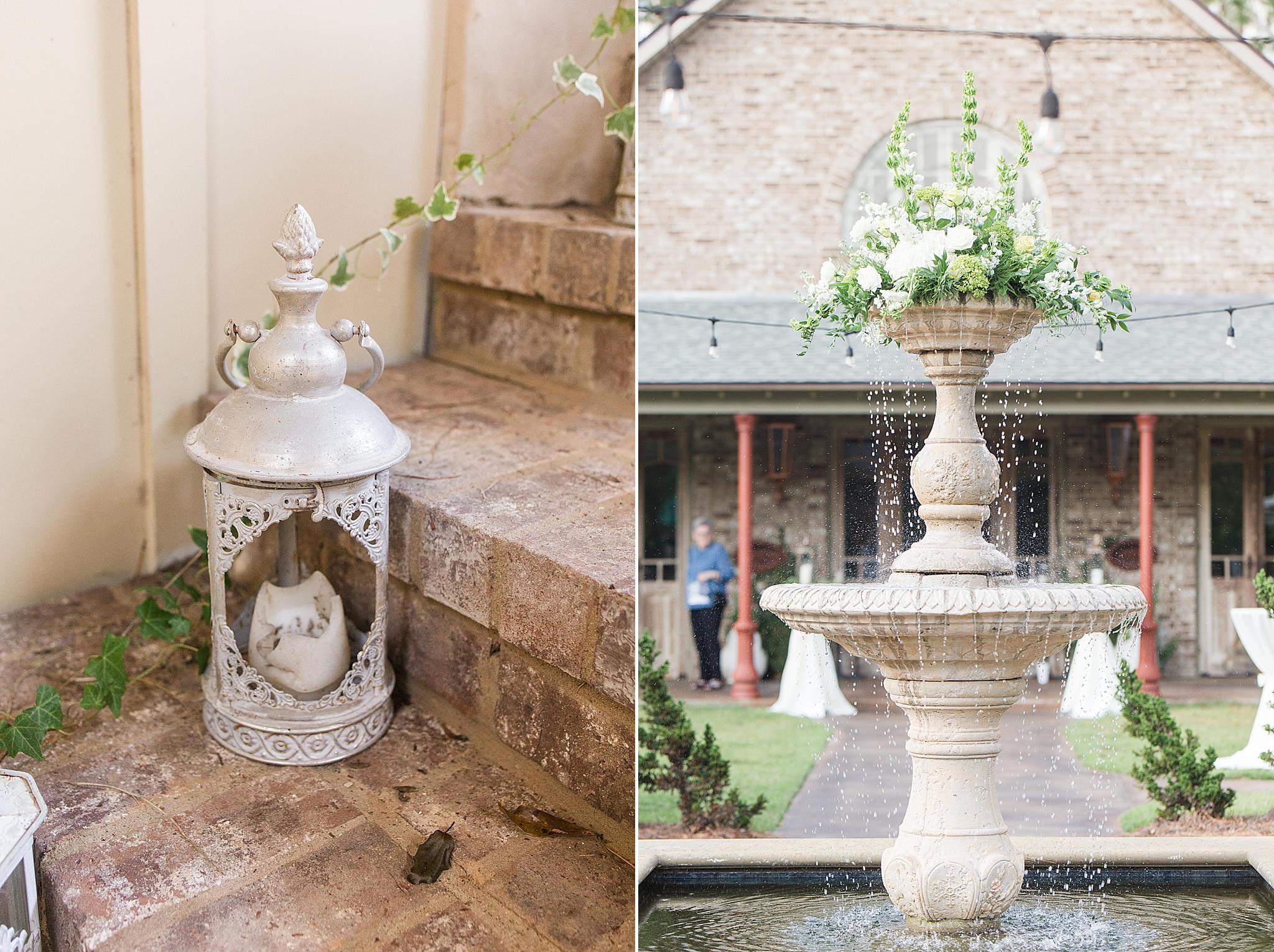 courtyard for wedding reception in Loxley AL