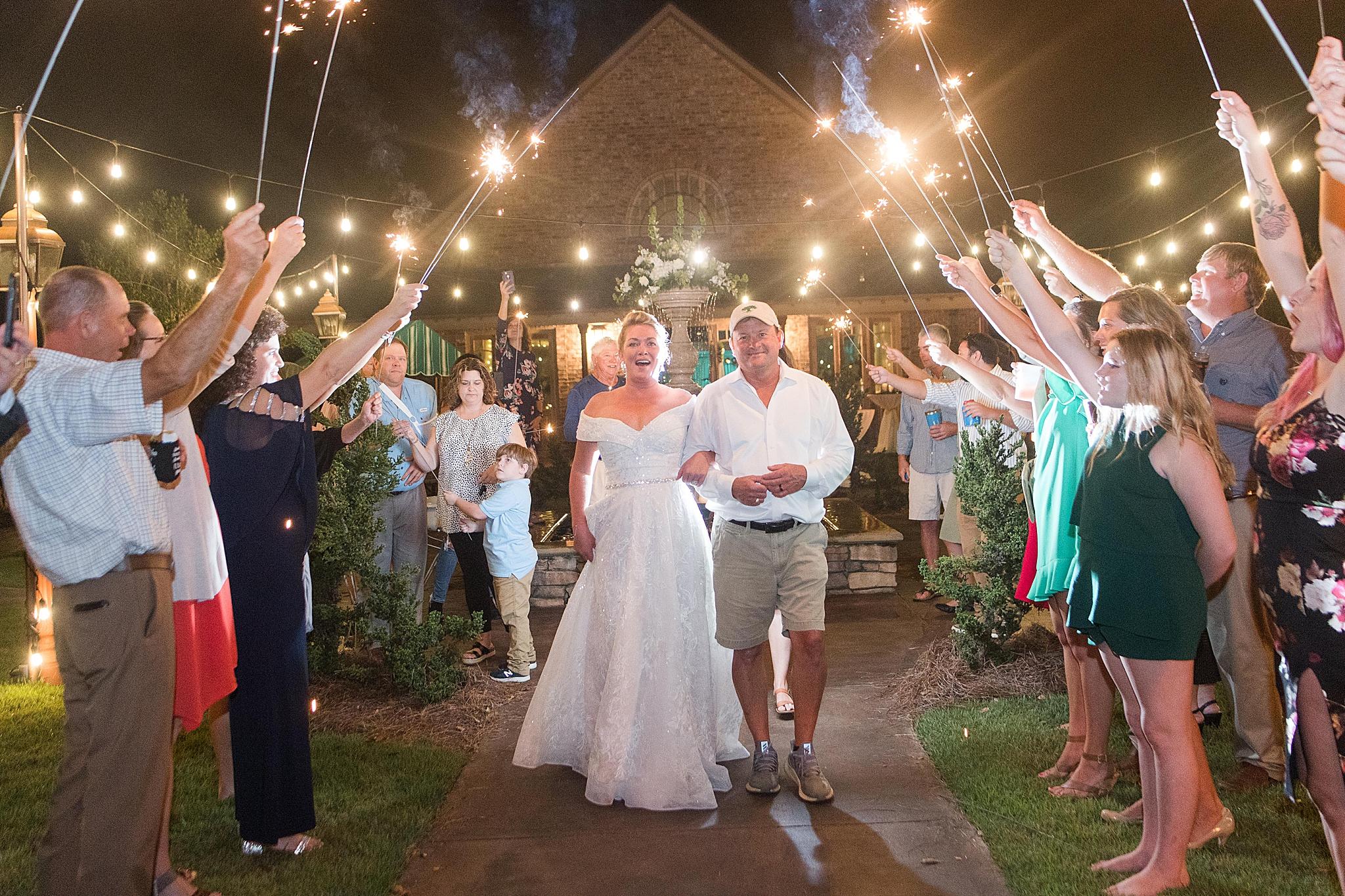 Alabama sparkler exit to end wedding night