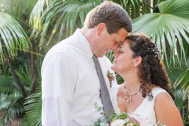 newlyweds pose in Pensacola FL