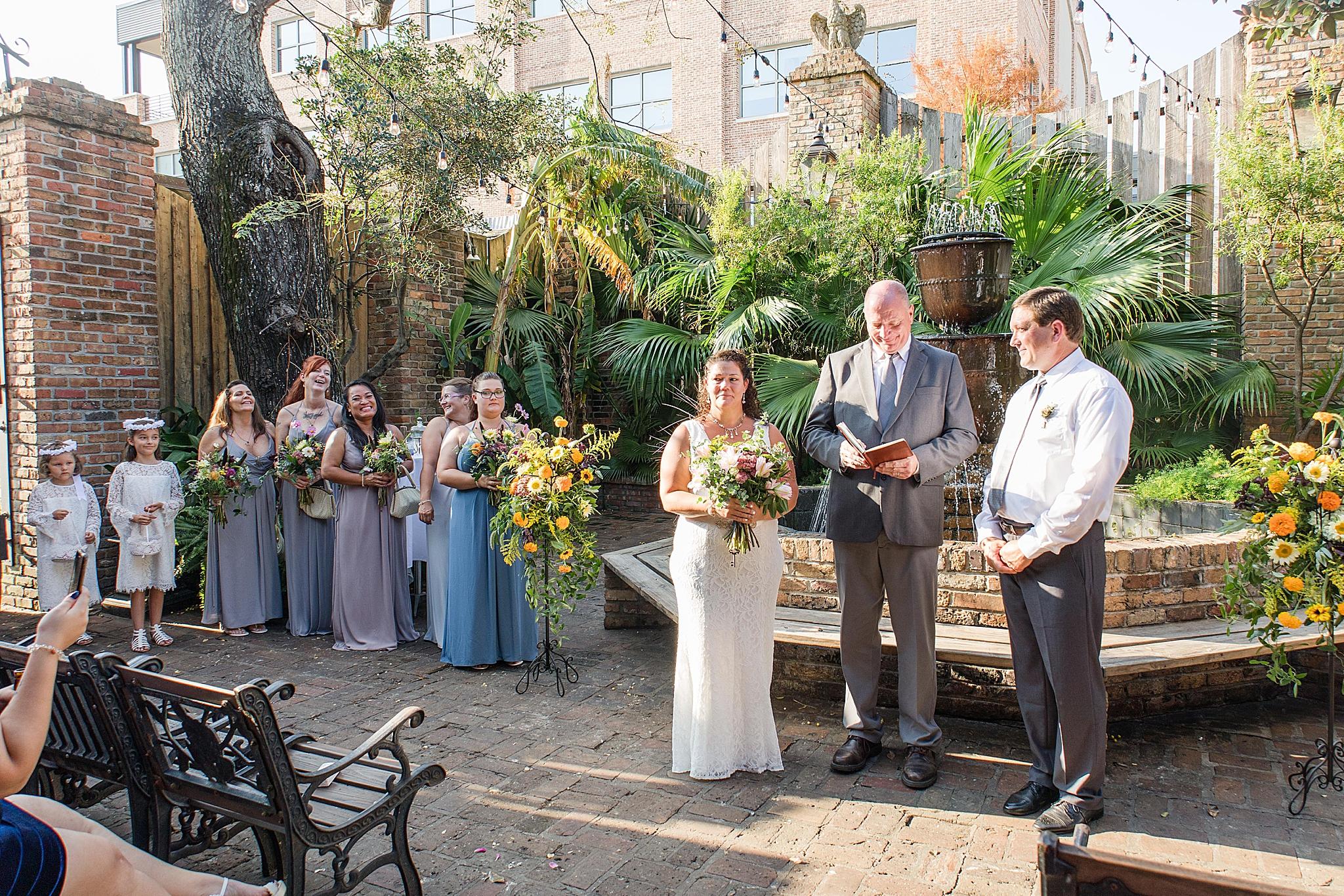 Seville Quarter wedding ceremony in Florida
