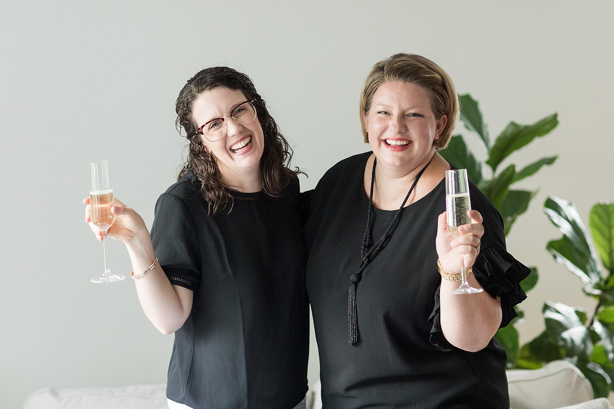 Alabama wedding photographers toast new clients