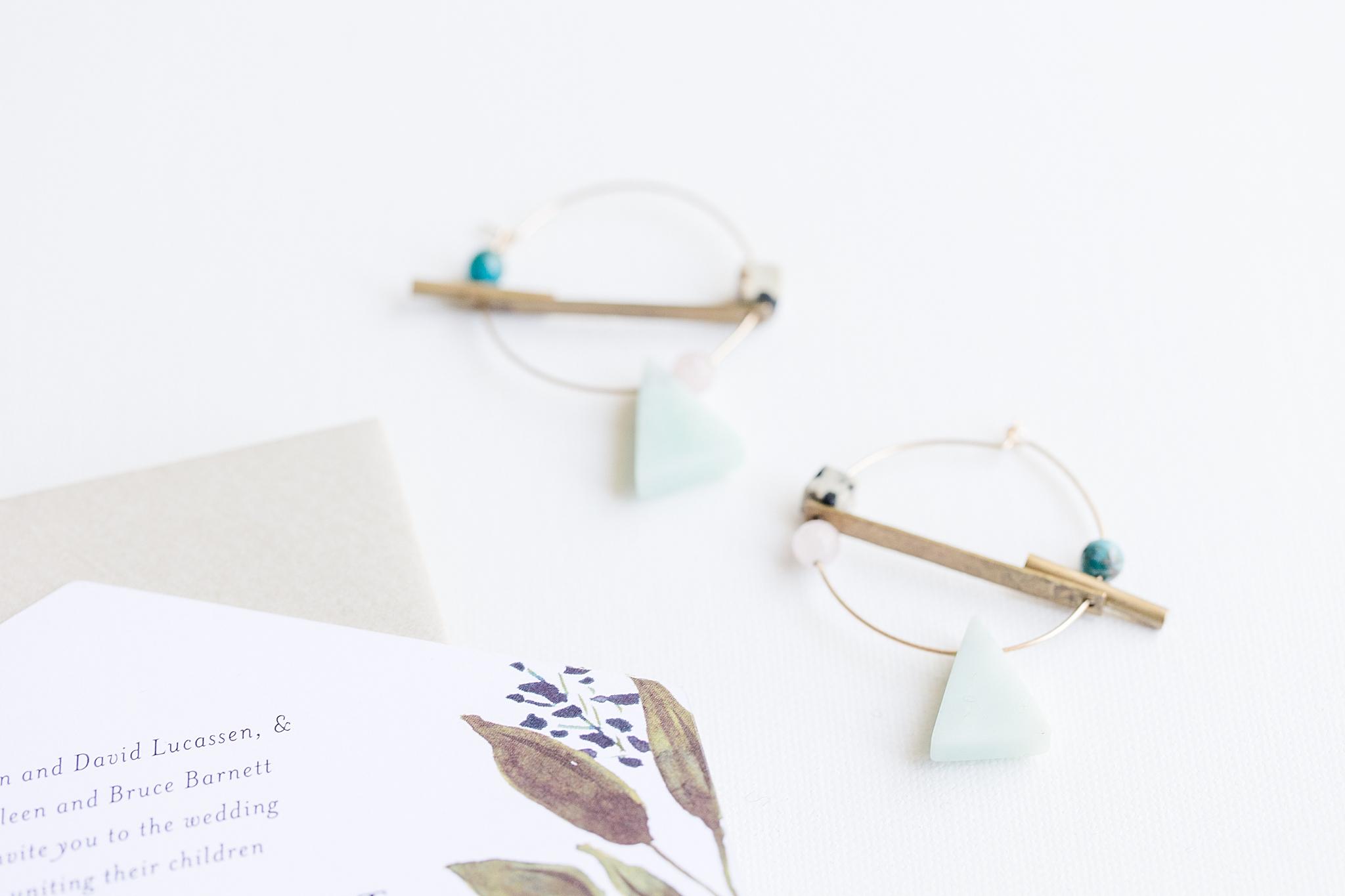 bride's jewelry for Burkhardt Pond Wedding