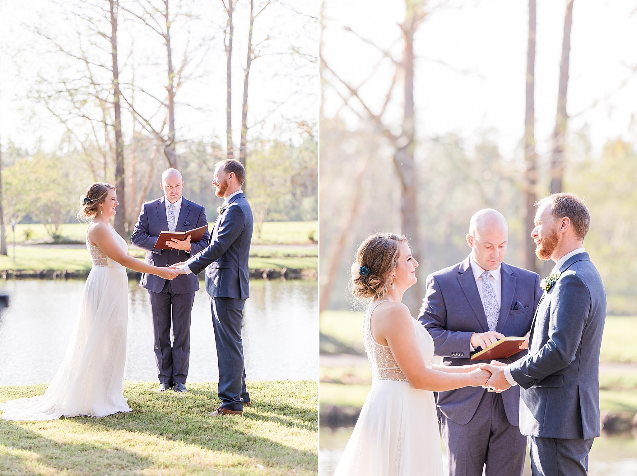Burkhardt Pond wedding ceremony
