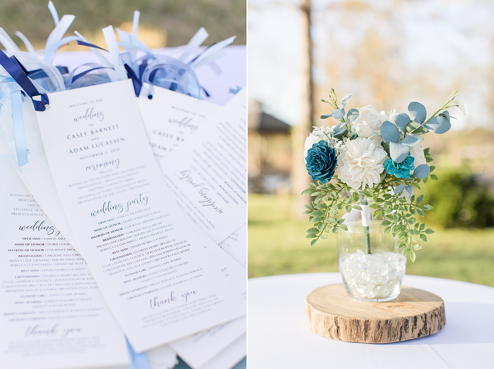 details for relaxed wedding day in Alabama