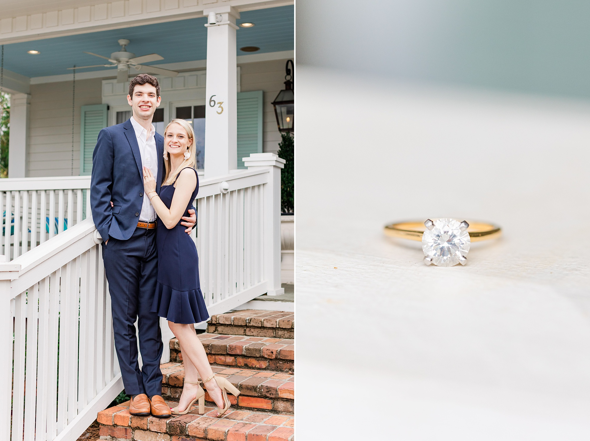 romantic Alabama engagement portraits