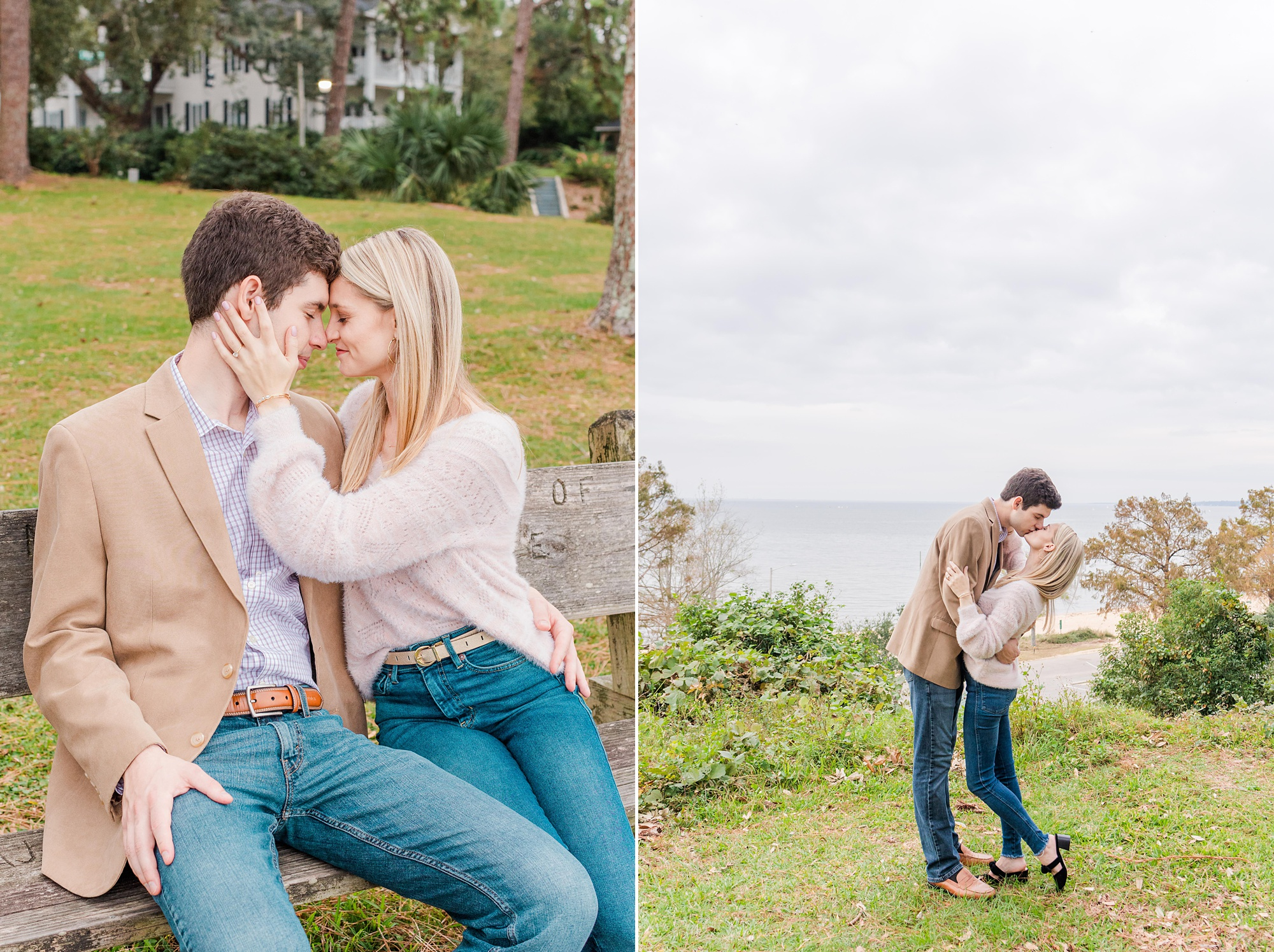 Mobile Bay engamgenet portraits in Fairhope AL