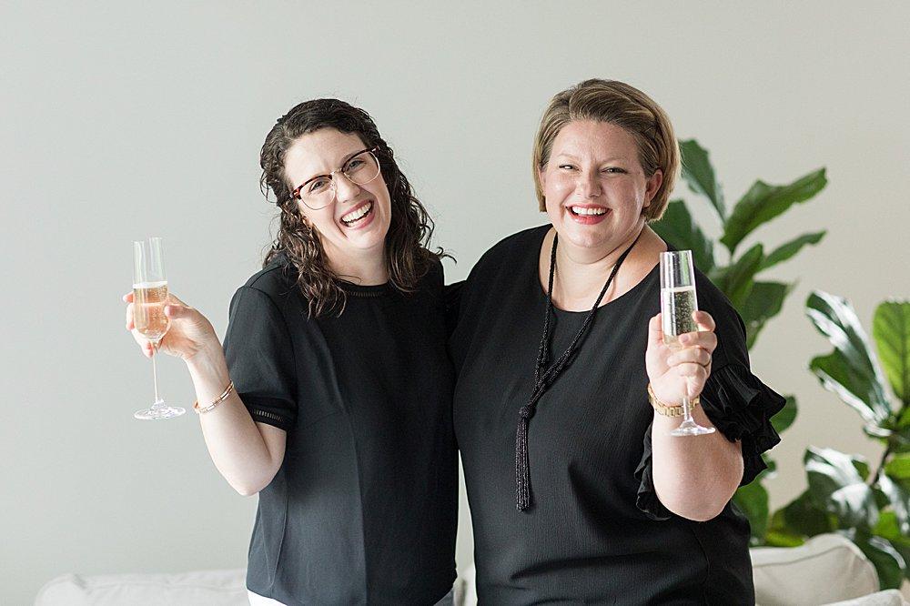 Alabama full service wedding photographers toast couples