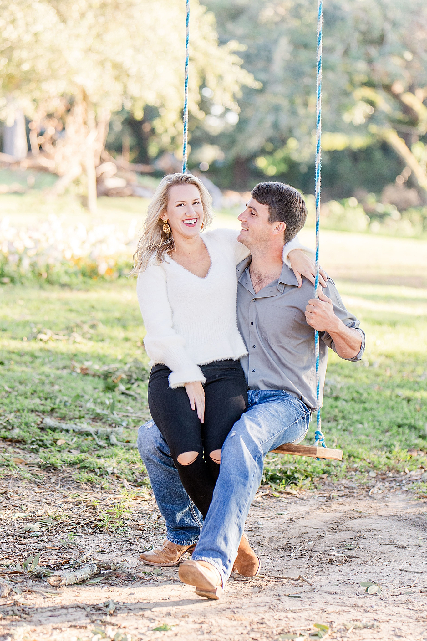 engagement session in park with Goodie and Smith Weddings
