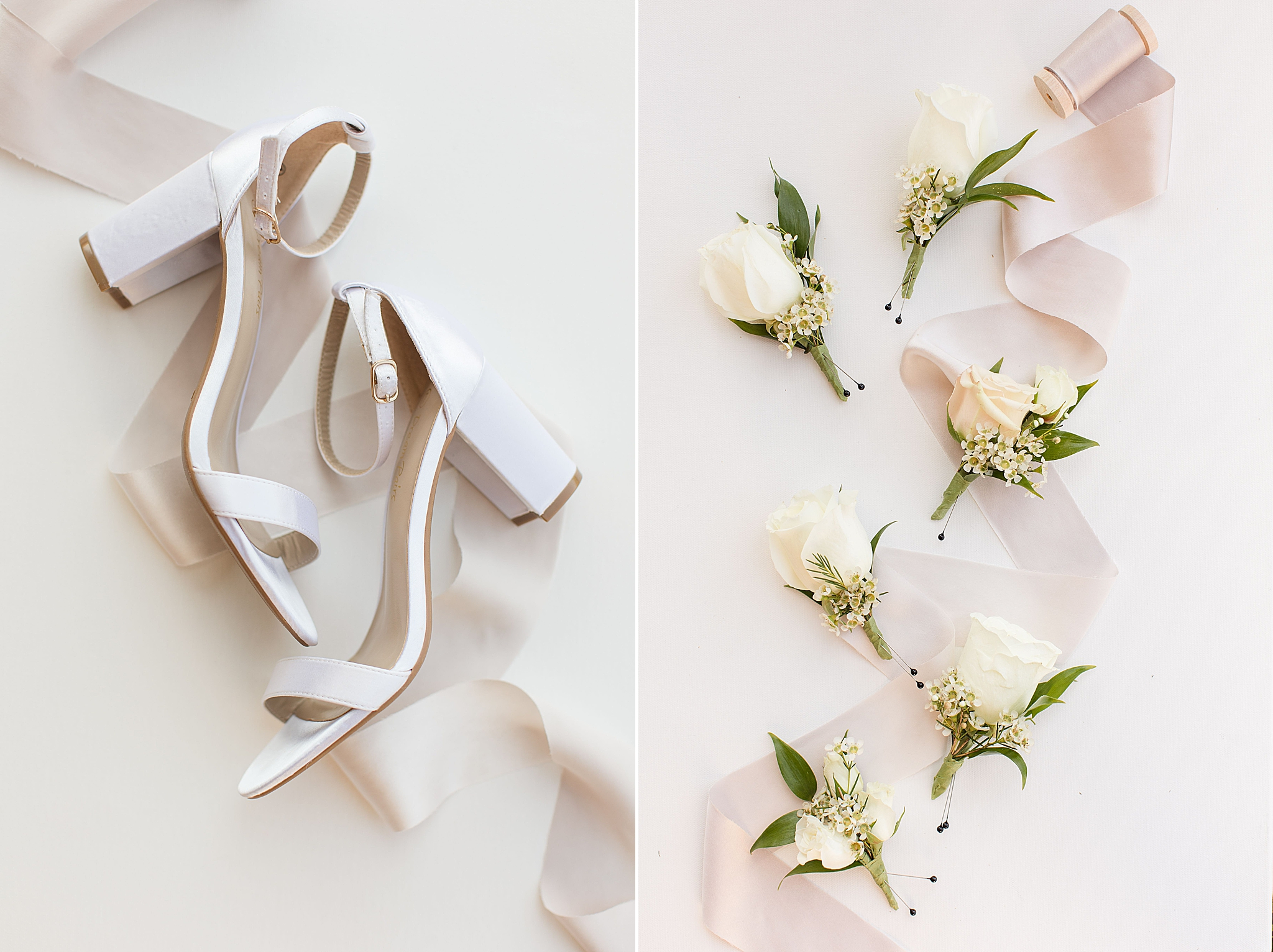 bride's shoes for The Orchard at Hayes Farm wedding