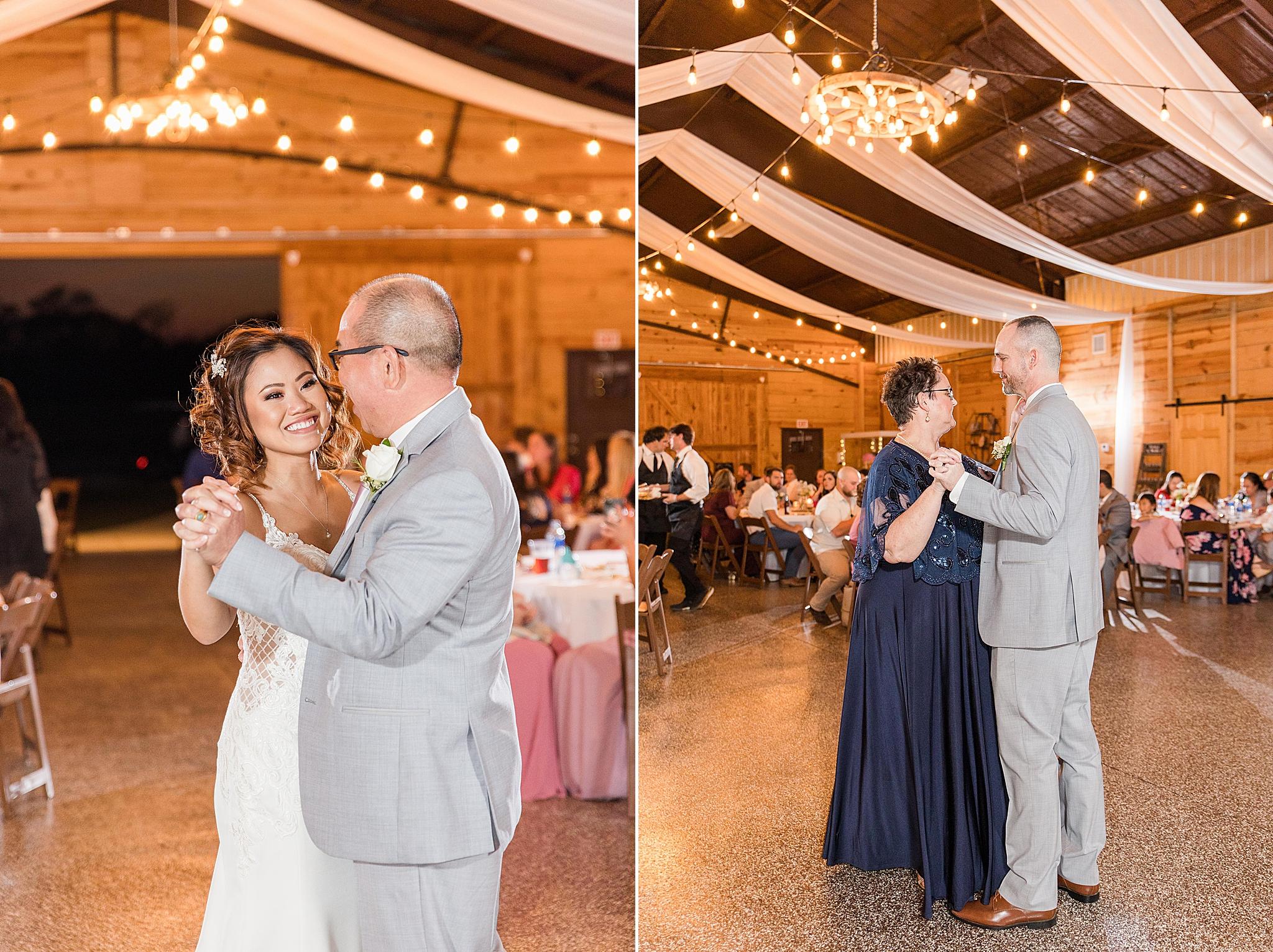 parent dances during Alabama wedding reception