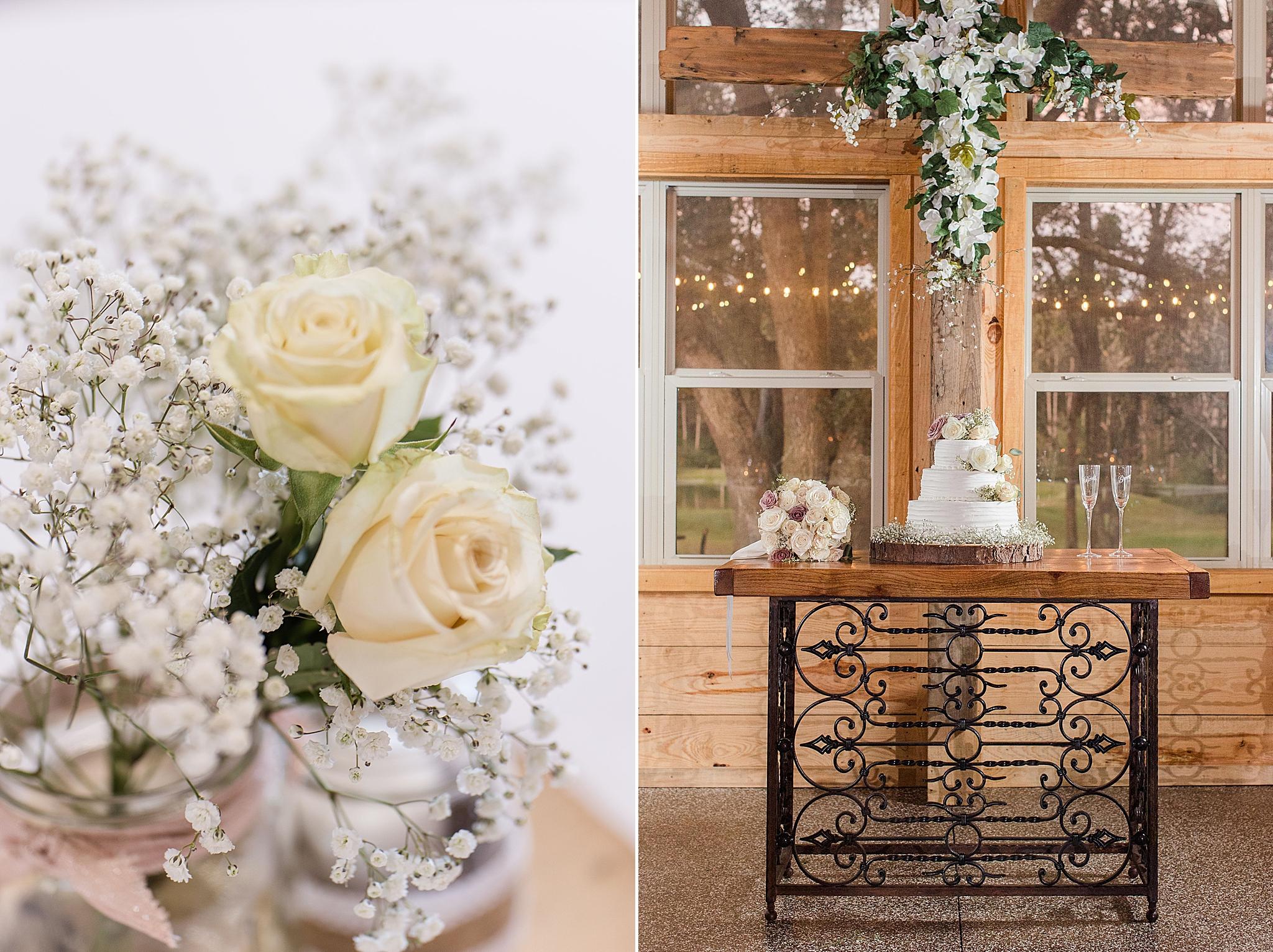 rustic elegant wedding details for Orchard at Hayes Farm wedding