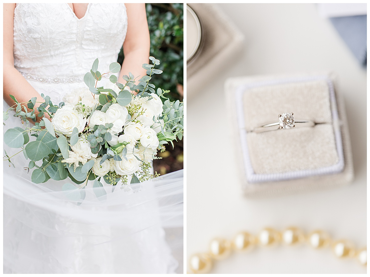 wedding jewelry and florals for Florida bride